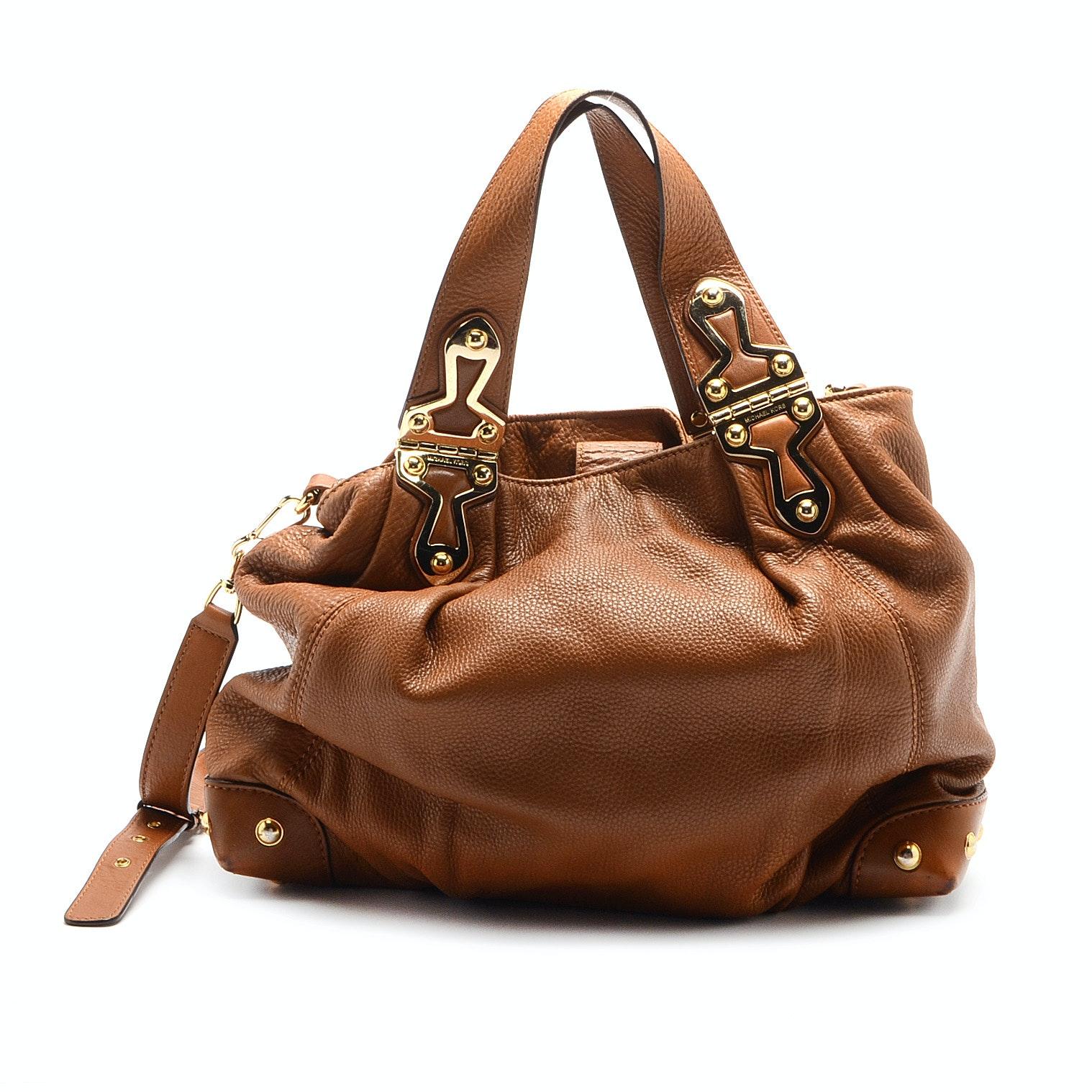 MICHAEL Michael Kors Tan Leather Satchel Handbag
