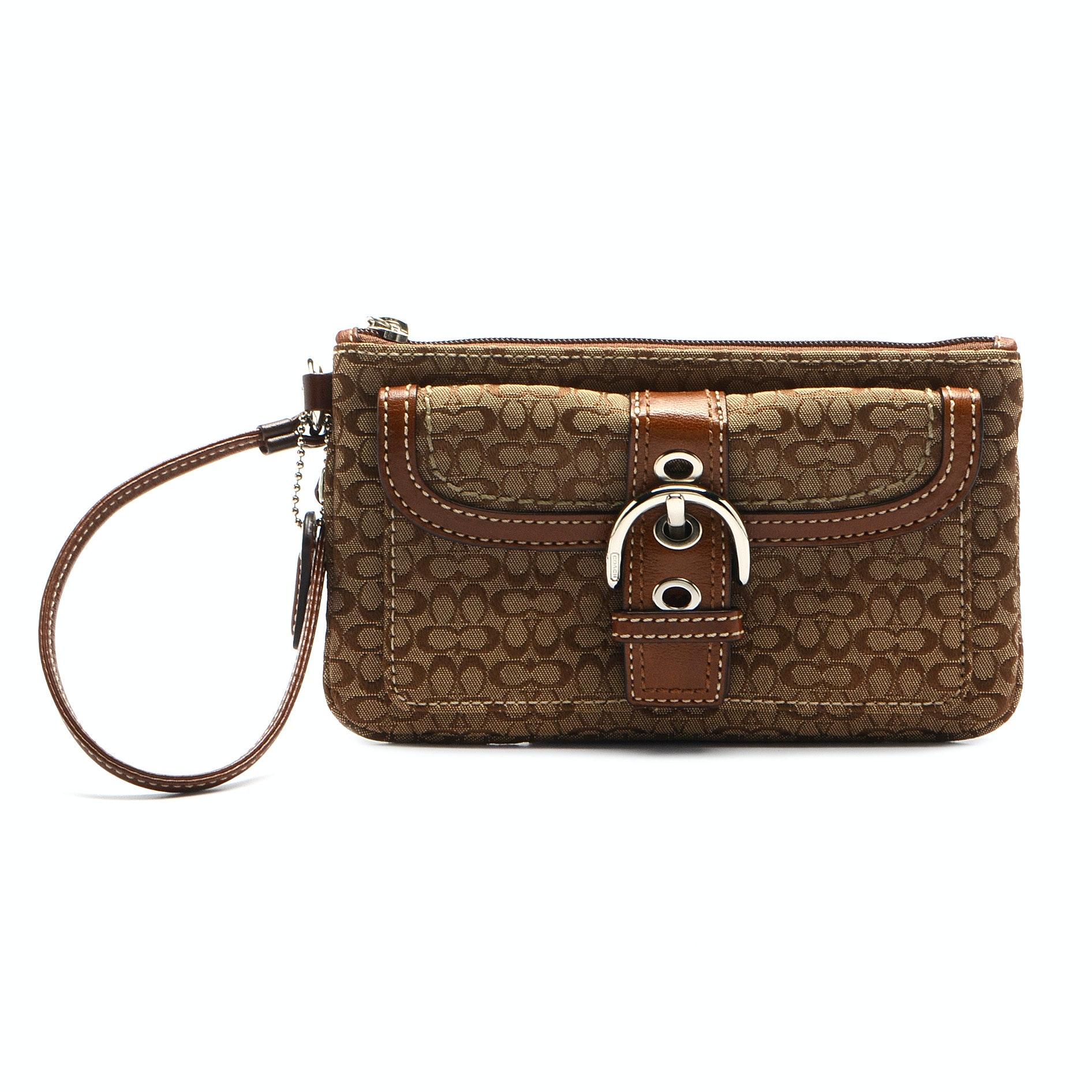 Coach Signature C Wristlet Handbag