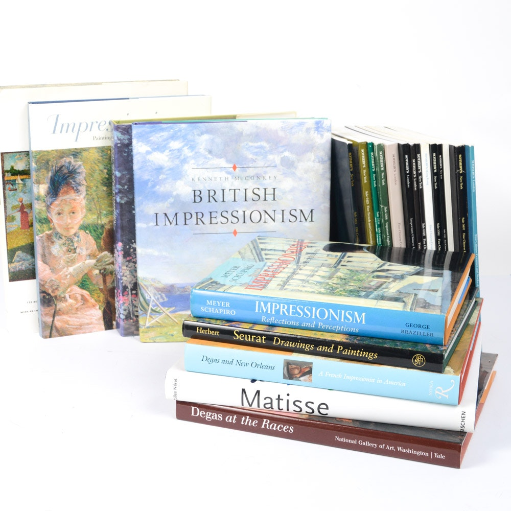 Art Reference Books with Seurat and Degas