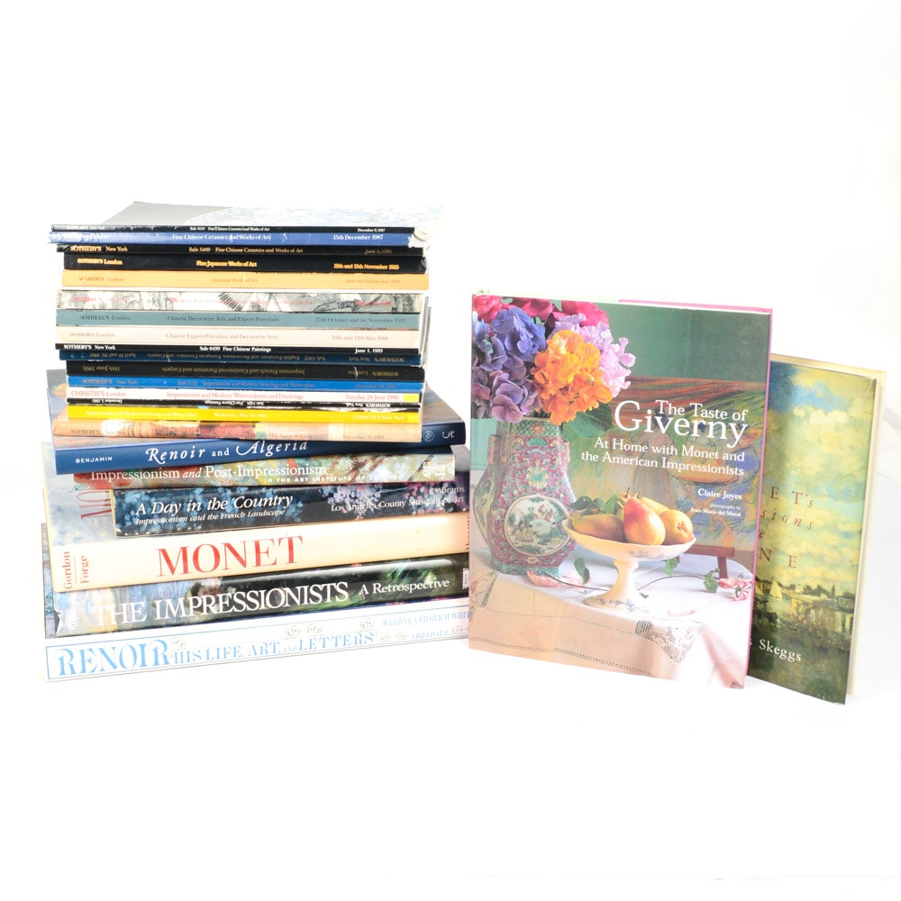 Art Reference Books with Monet and Renoir