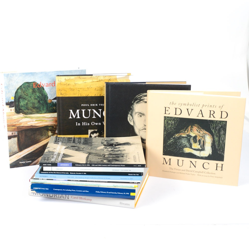 Reference Books on Edvard Munch and Piet Mondrian