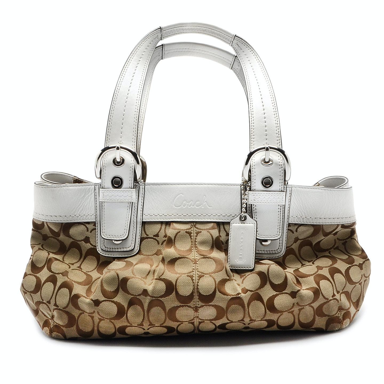 Coach Signature C Soho Pleated Handbag