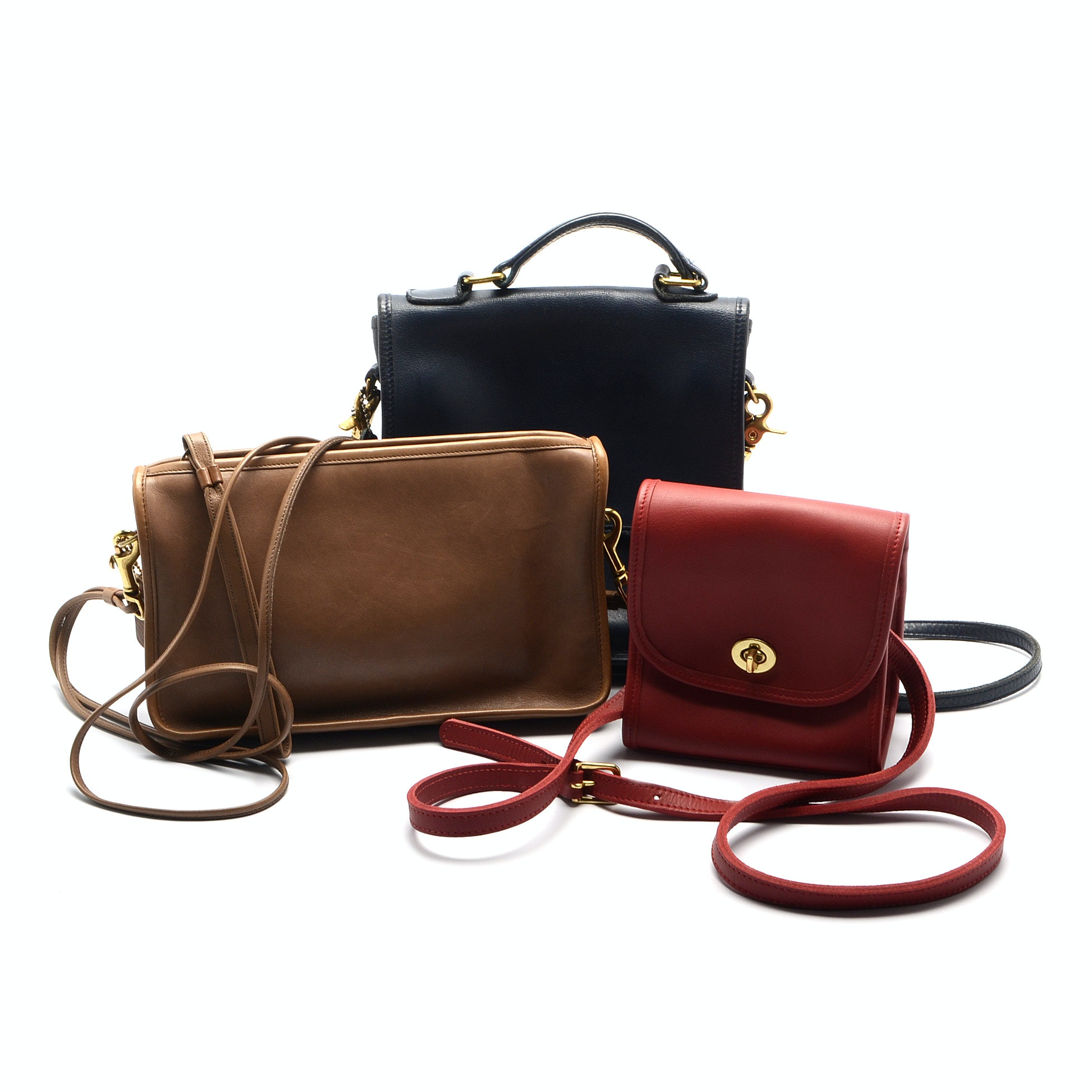 Coach American-Made Leather Handbags Including Station and Emily Flap Styles