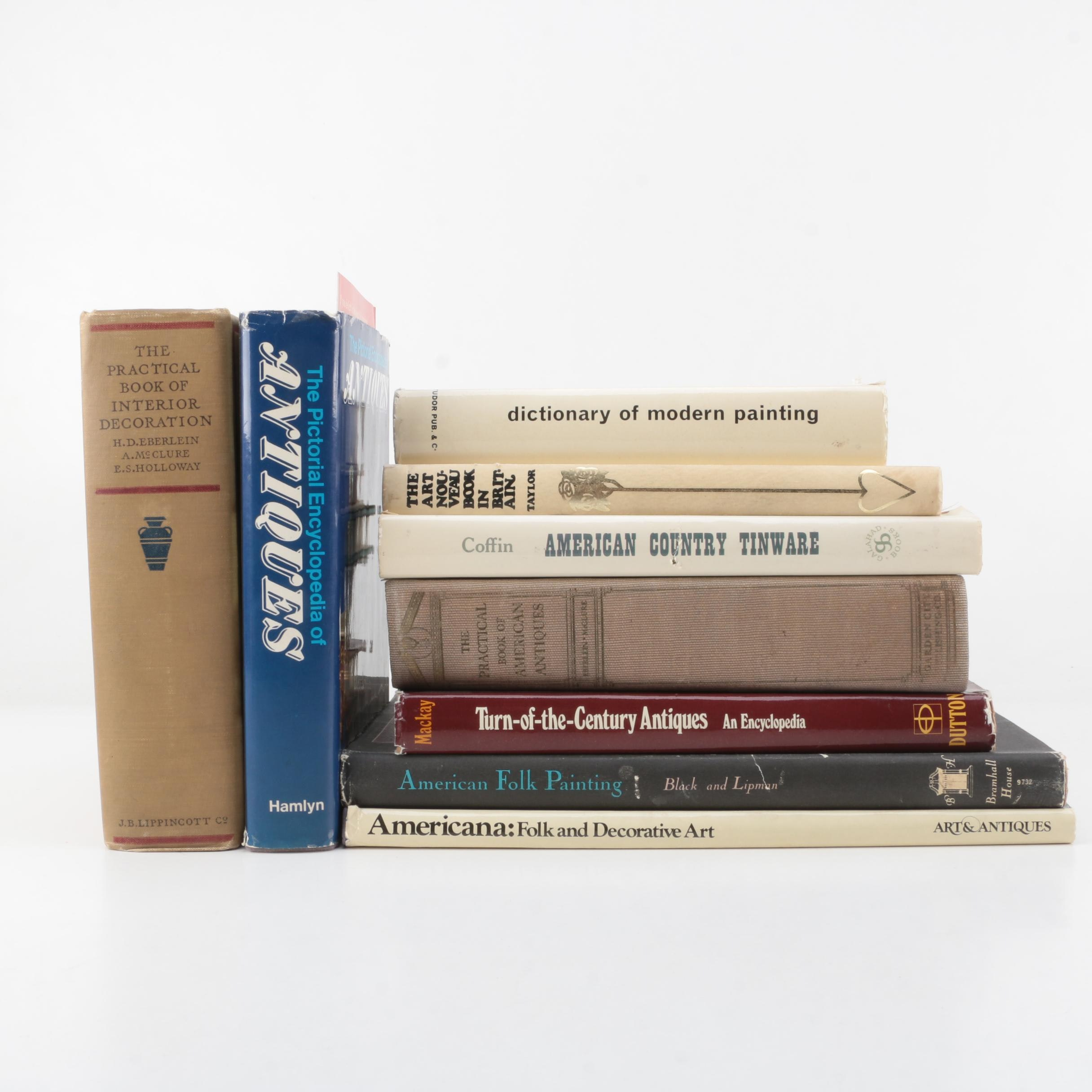 """Assorted Books on Art Including 1966 """"American Folk Painting"""""""