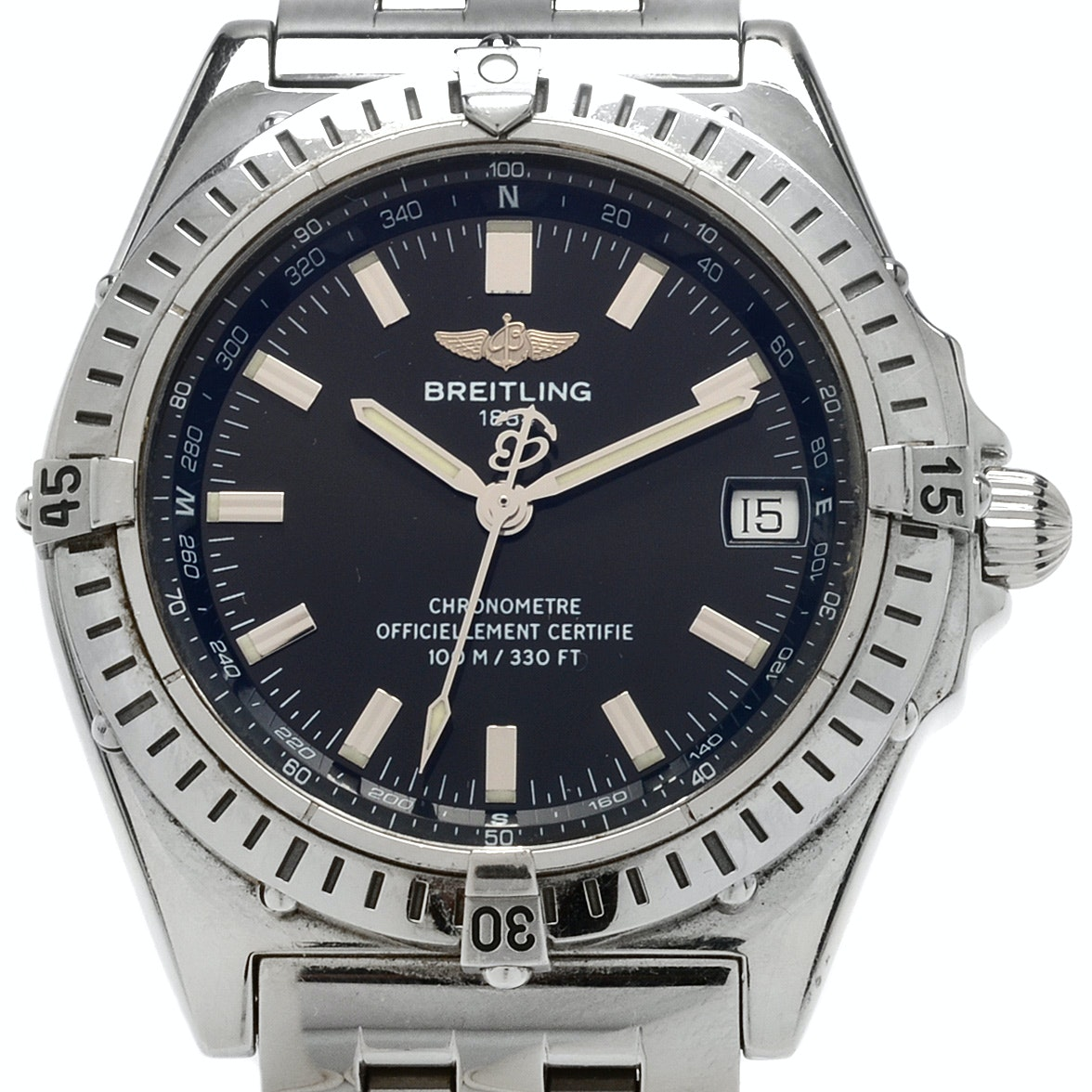 "Breitling 1884 Windrider ""Wings"" Automatic Stainless Steel Wristwatch"