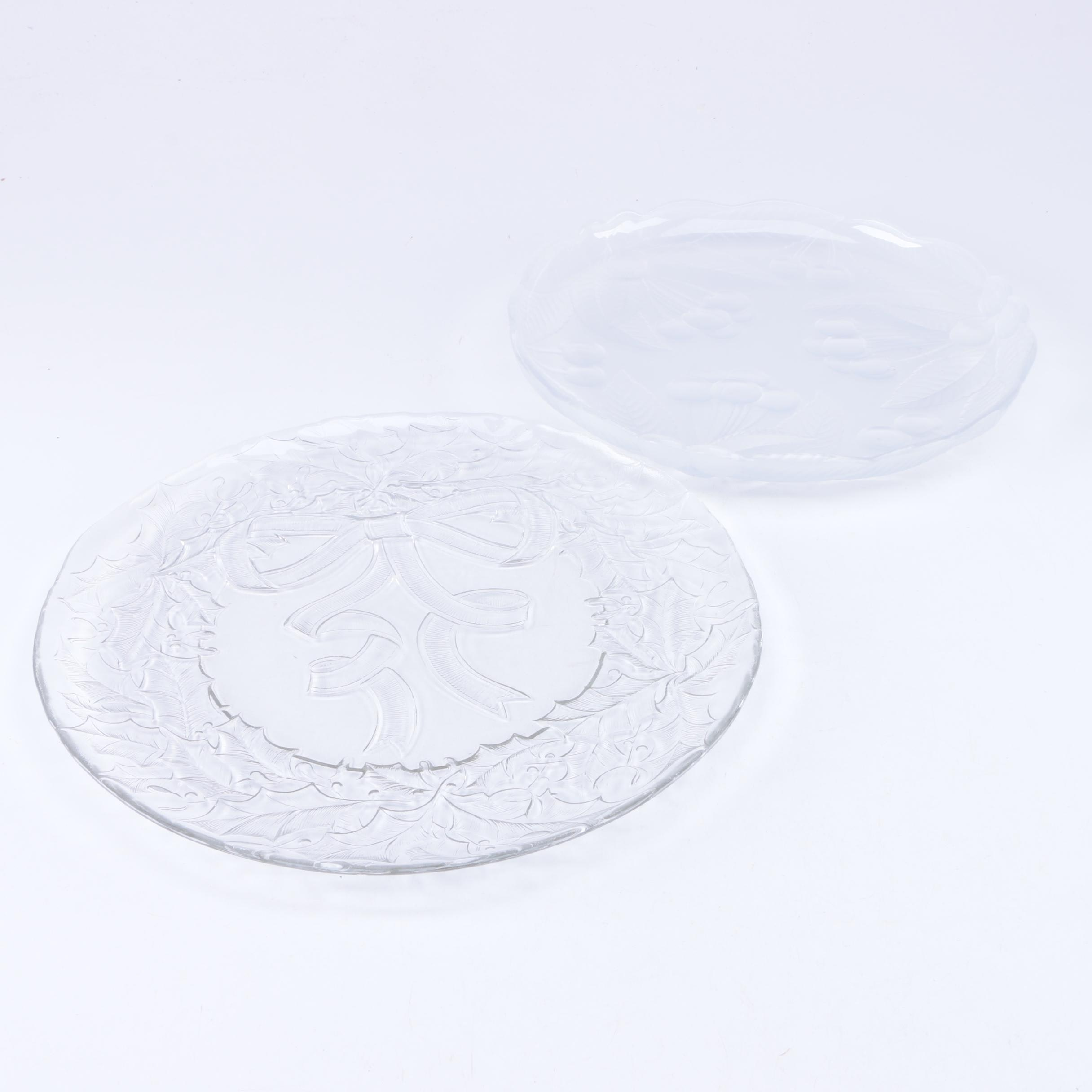 Glass Plates with Pressed Glass Designs