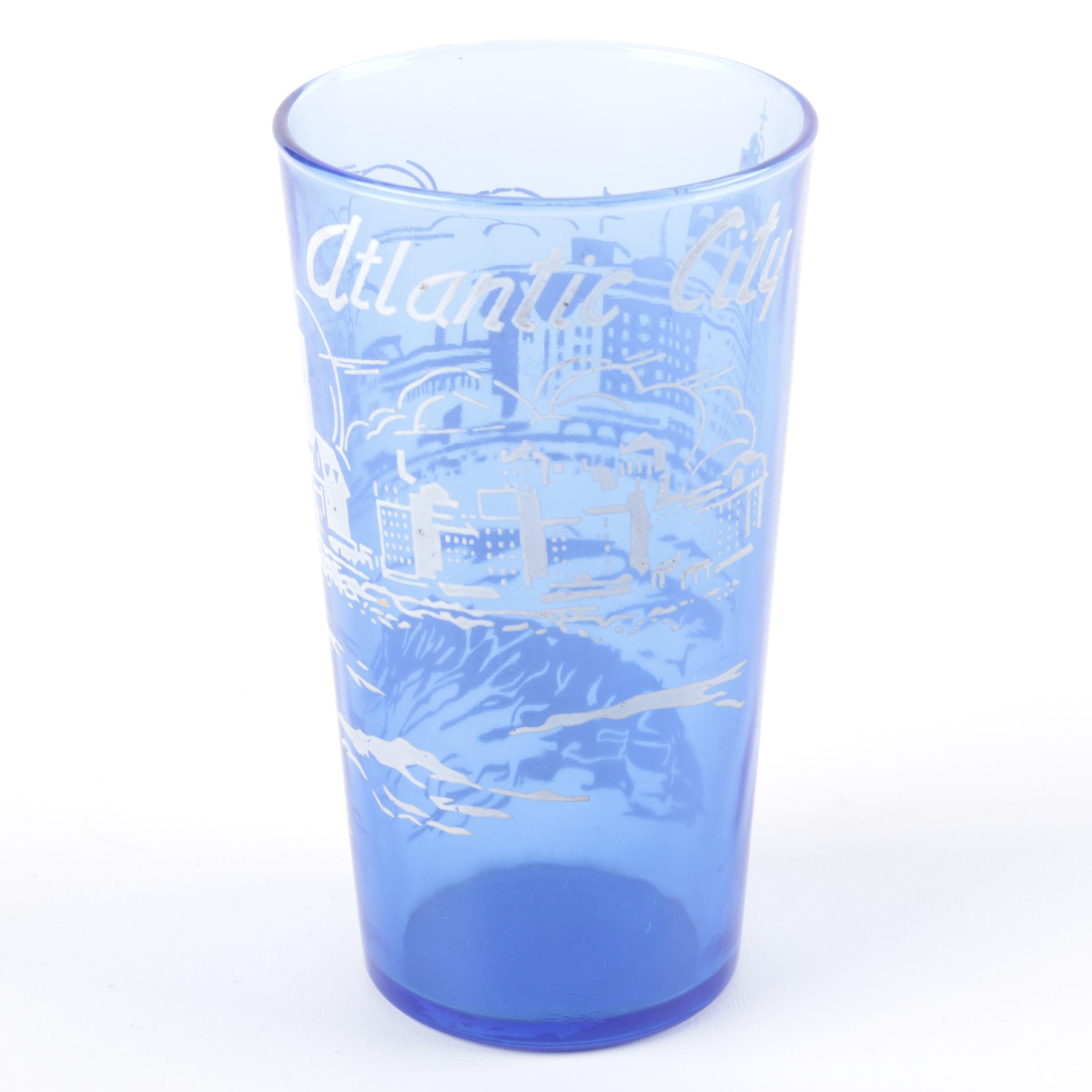 Vintage Atlantic City Glass Tumbler