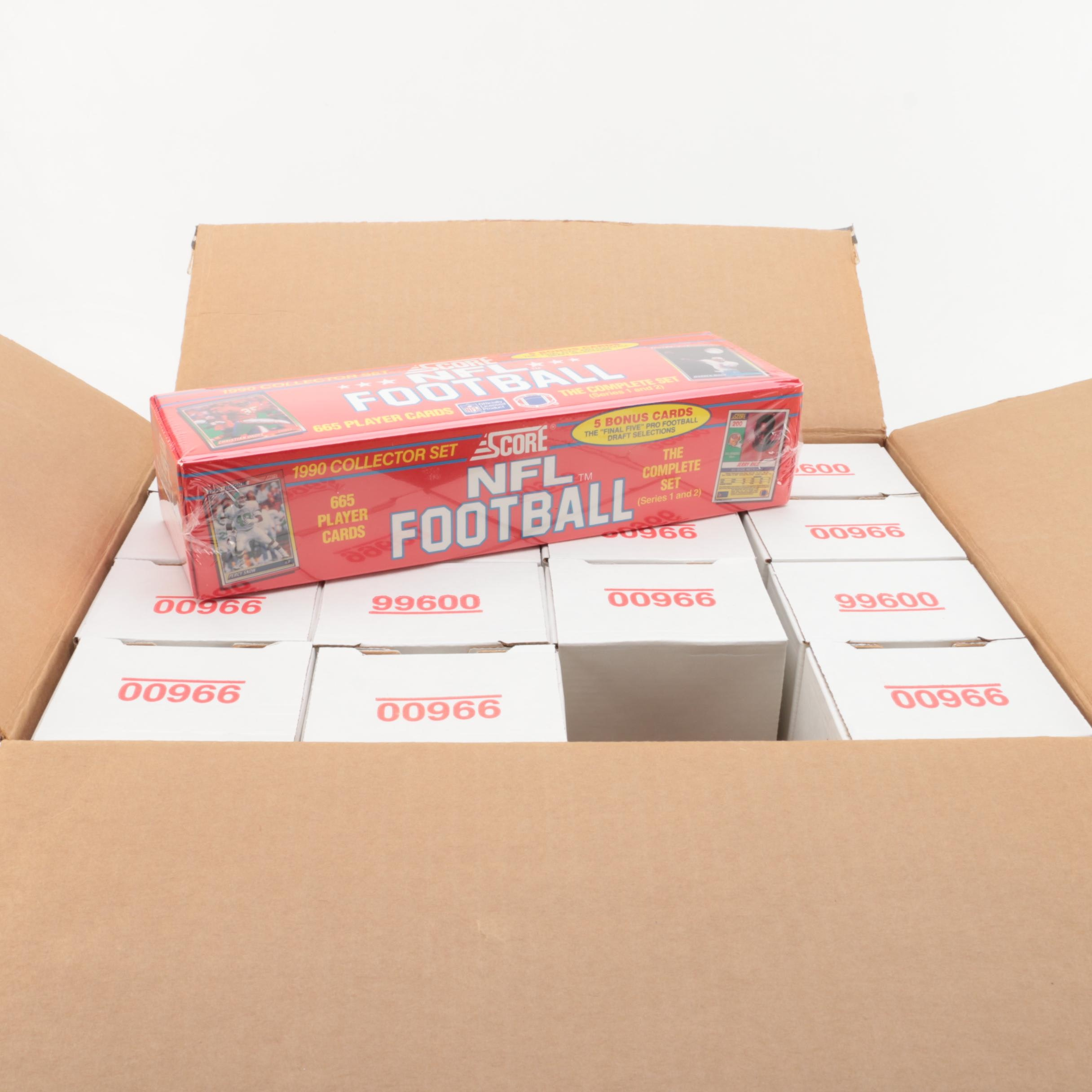 Football Cards Including 1990 Score Collector Set