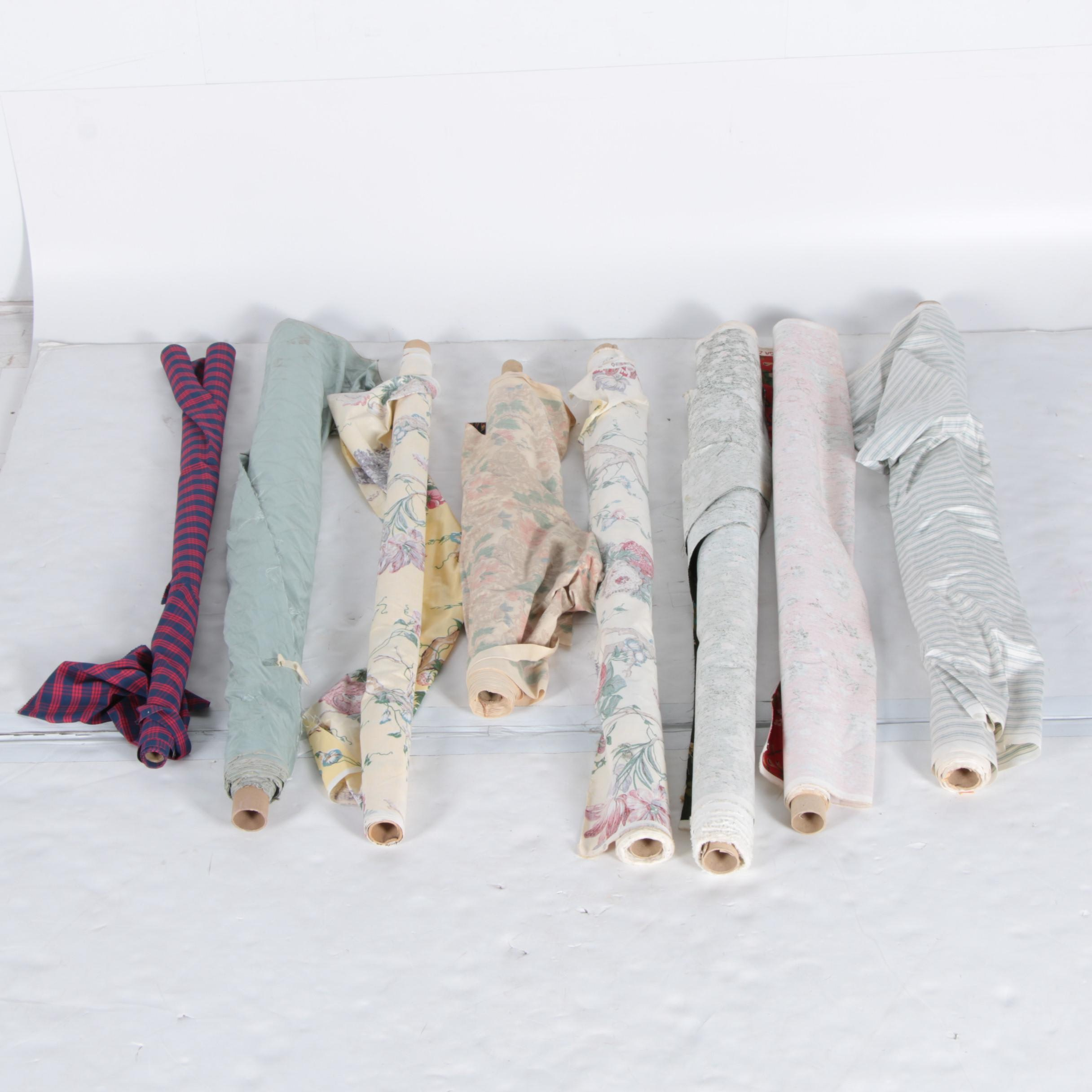 Eight Partial Bolts of Fabric