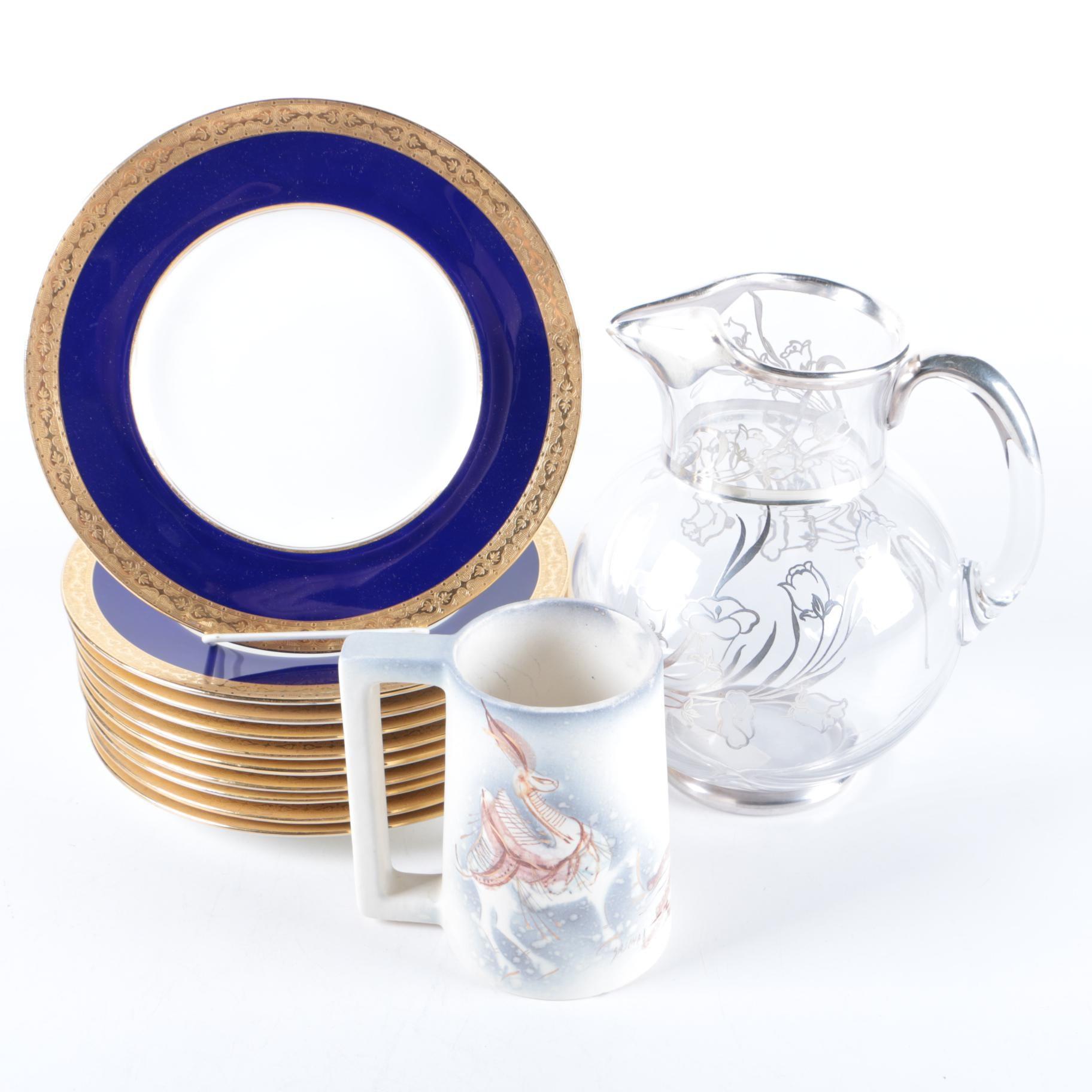 Vintage Tableware Including Minton and Sascha Brastoff