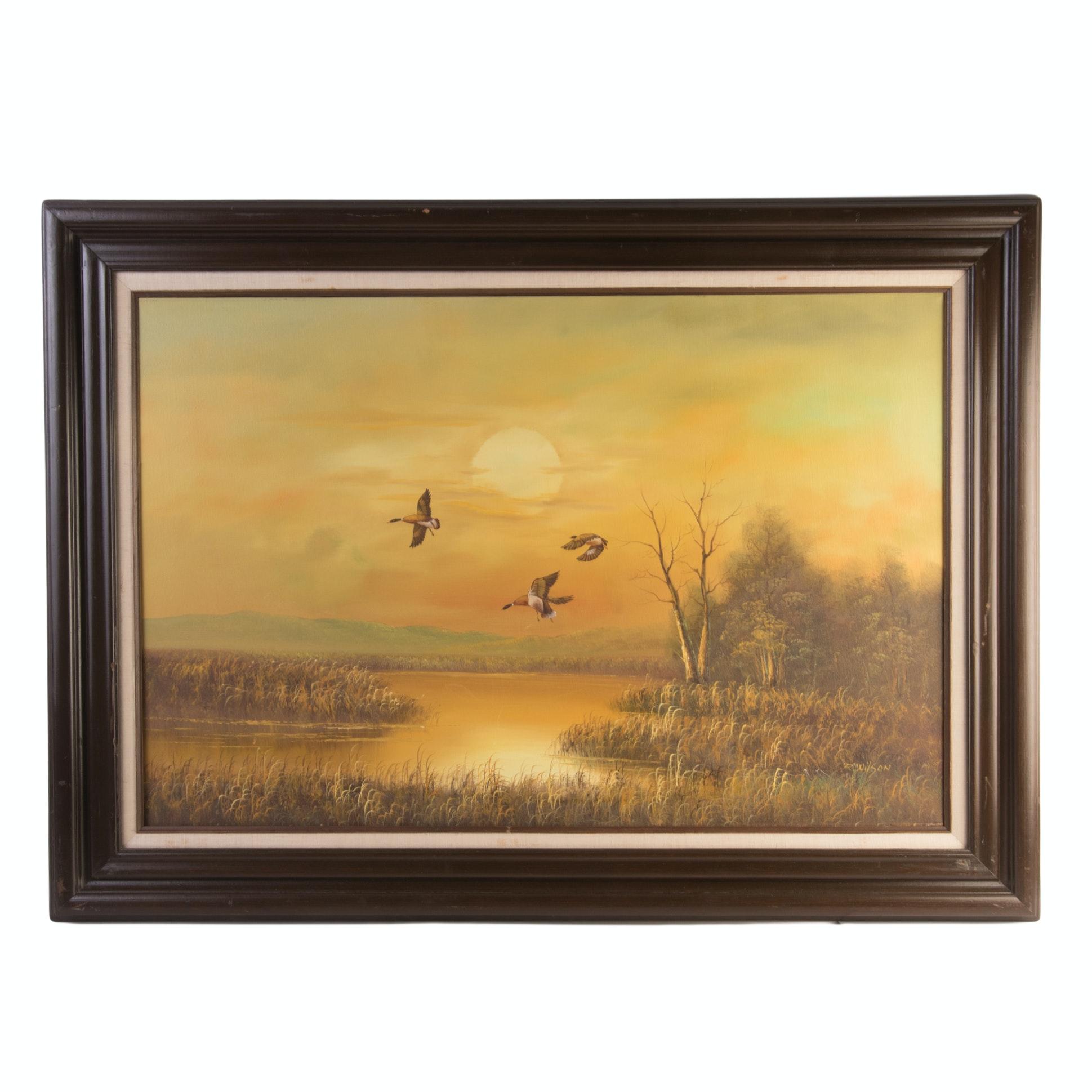 R. Wilson Acrylic on Canvas Landscape