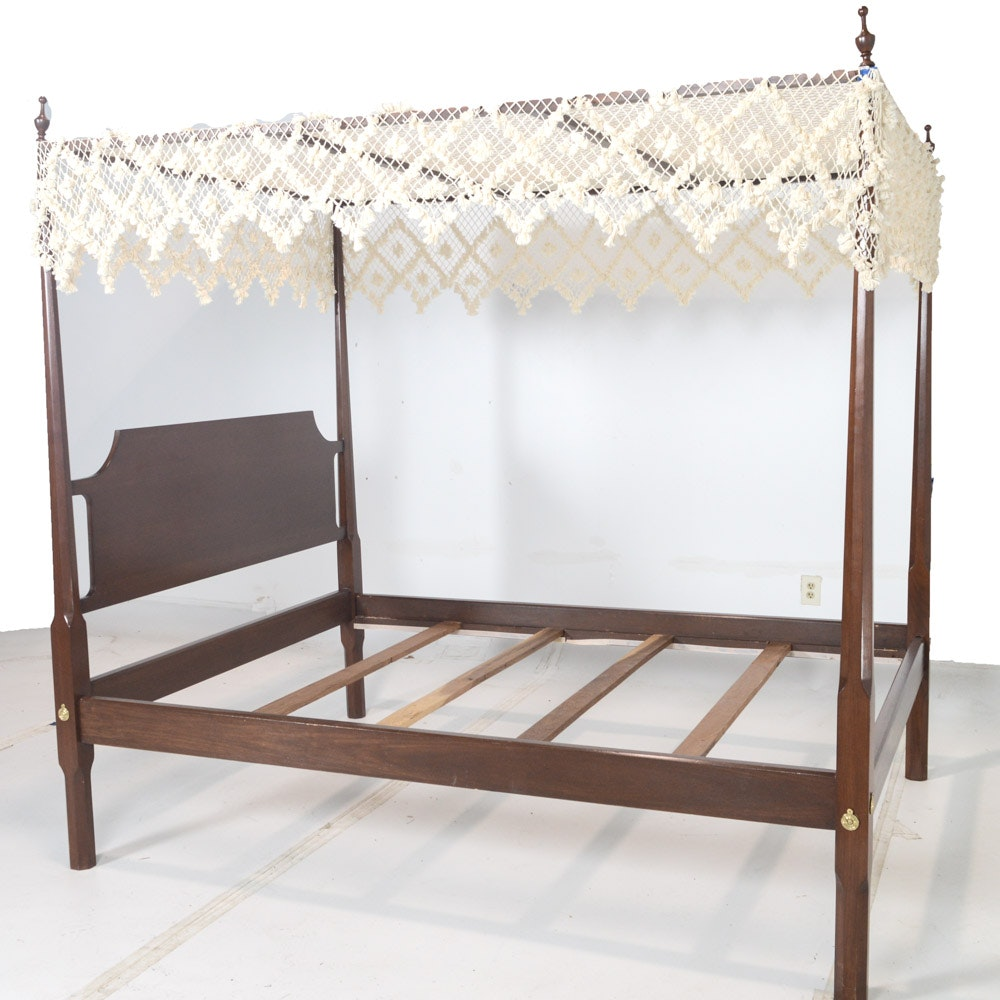 Queen Size Cherry Canopy Bed