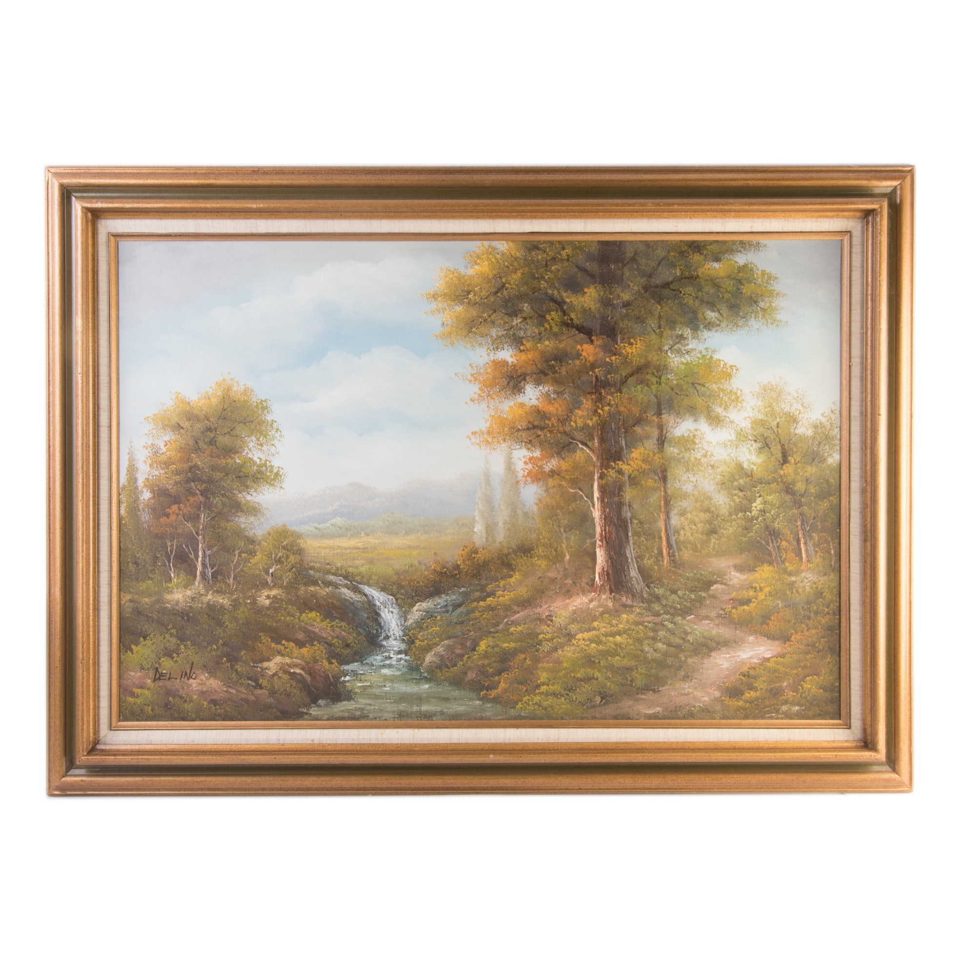 Delino Acrylic on Canvas Forest Landscape Painting