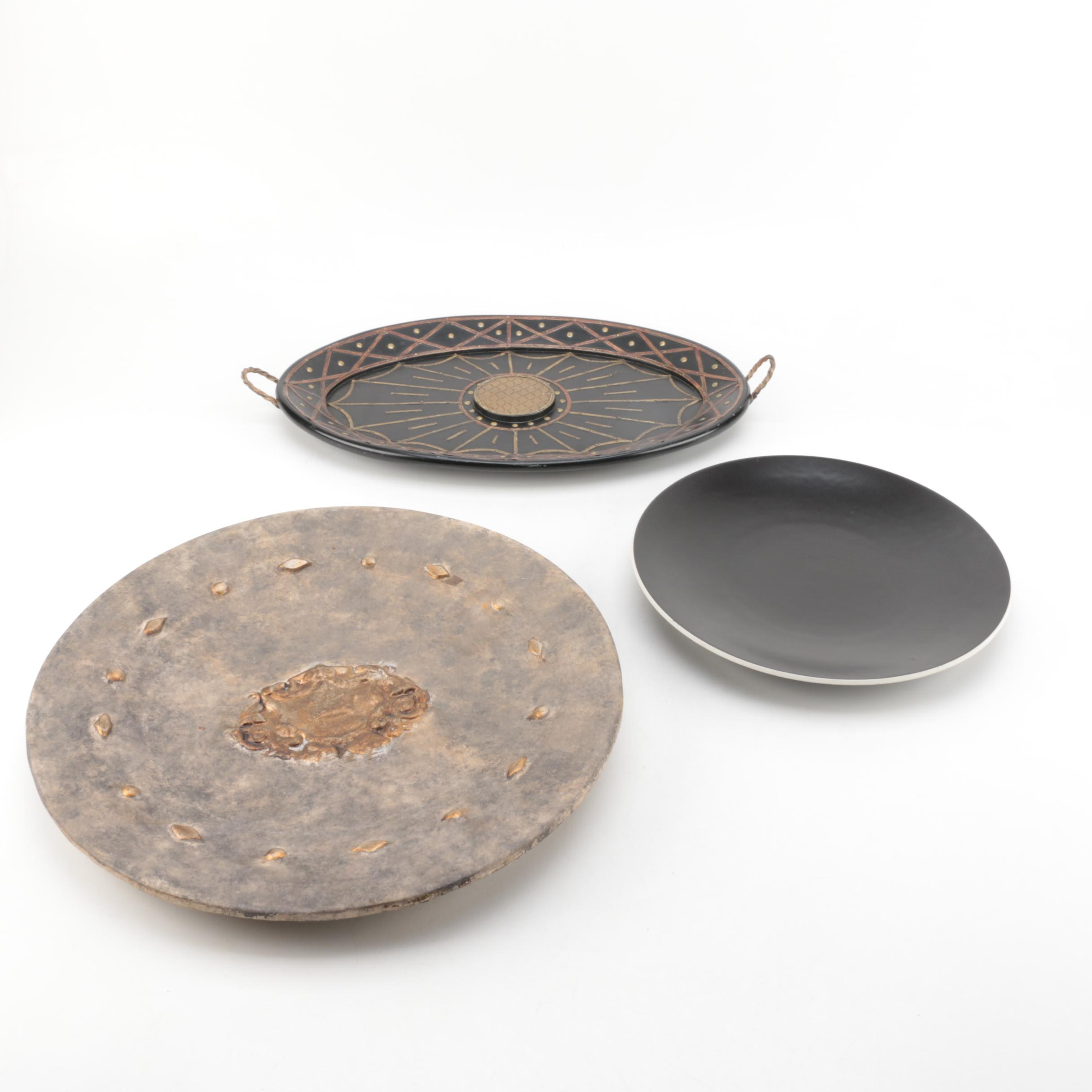 Decorative Platters with Stands