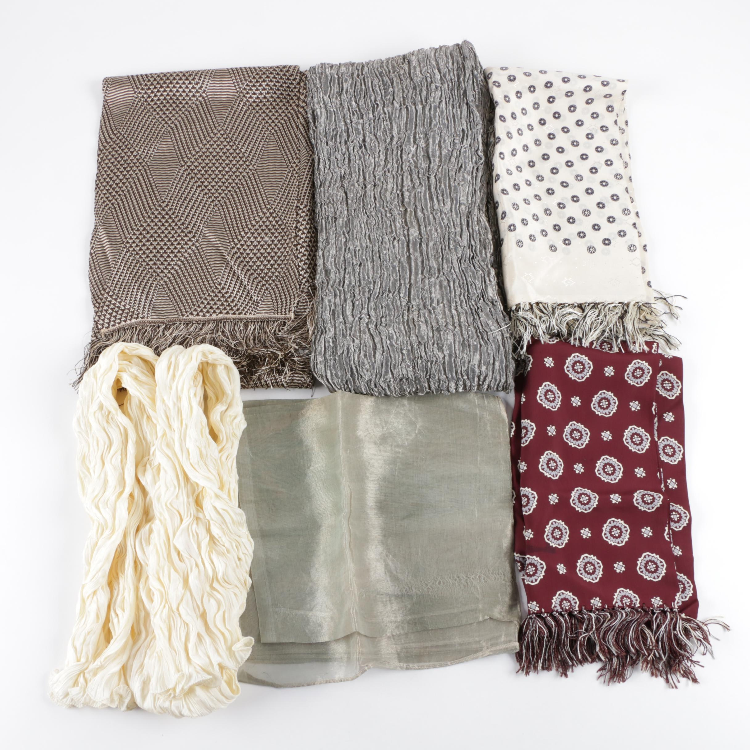 Six Fashion Scarves