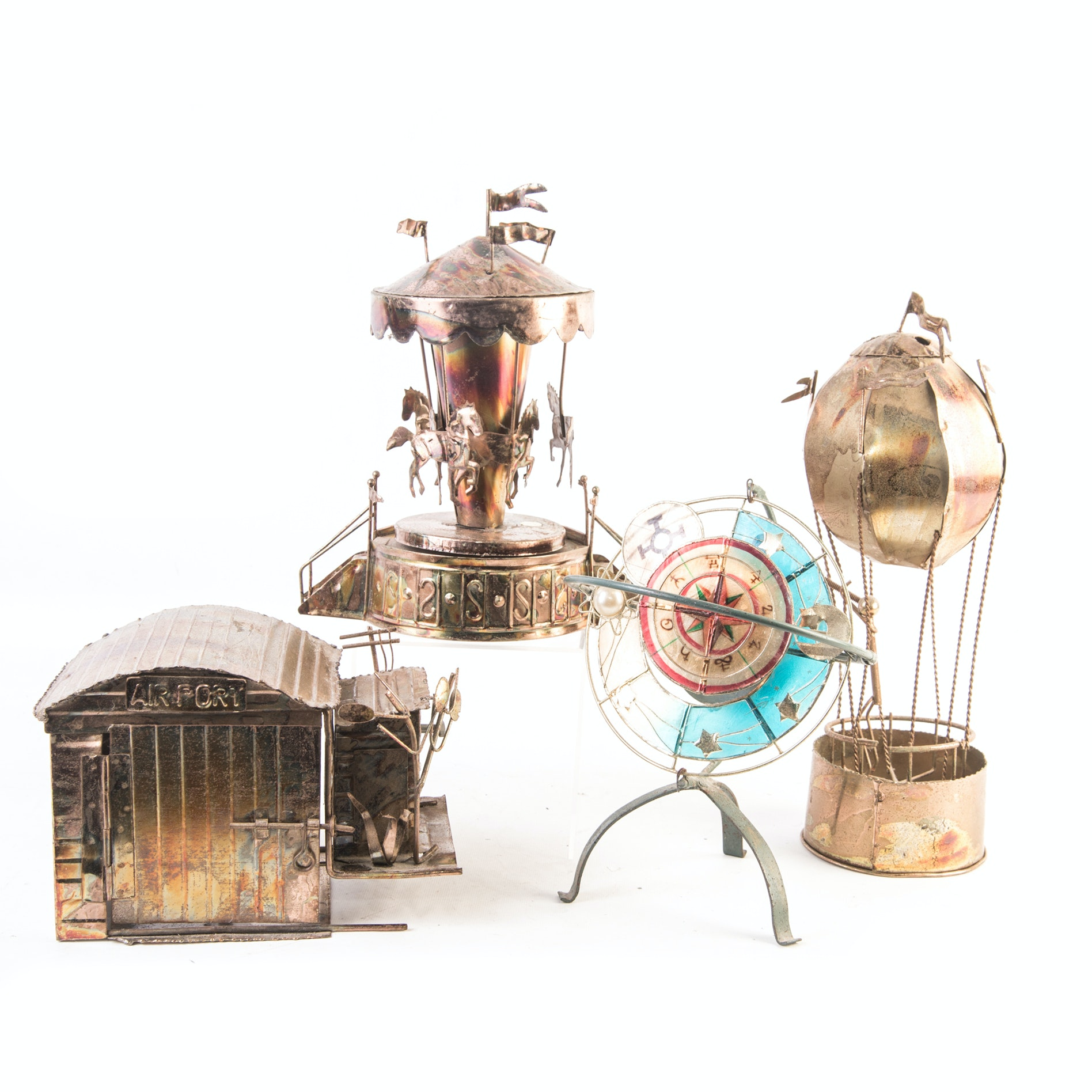 Copper and Brass Mechanical Movement Music Box Figurines
