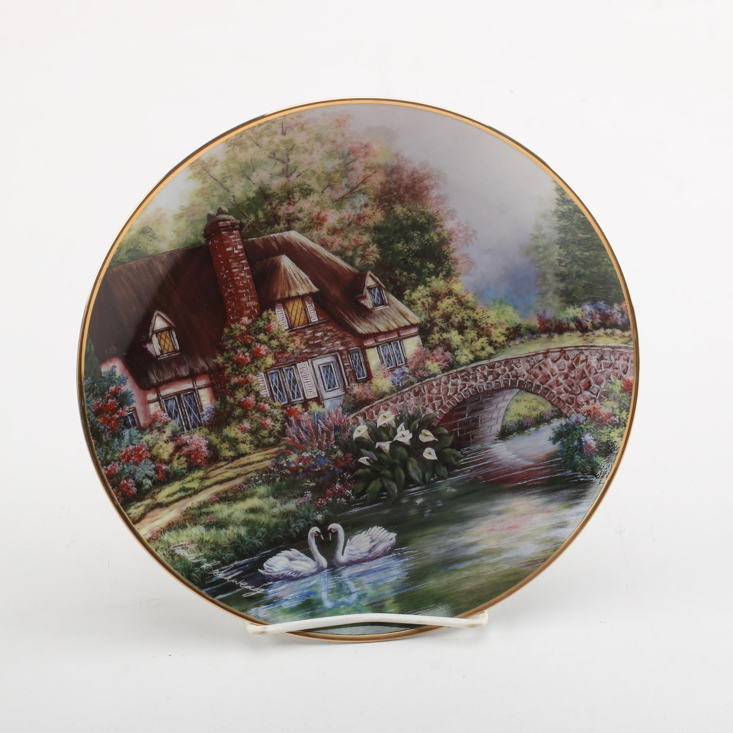 "Franklin Mint ""Cottage at Meadowgate"" Collector Plate after Violet Schwenig"