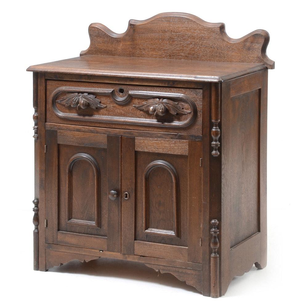 Antique Victorian Walnut Washstand