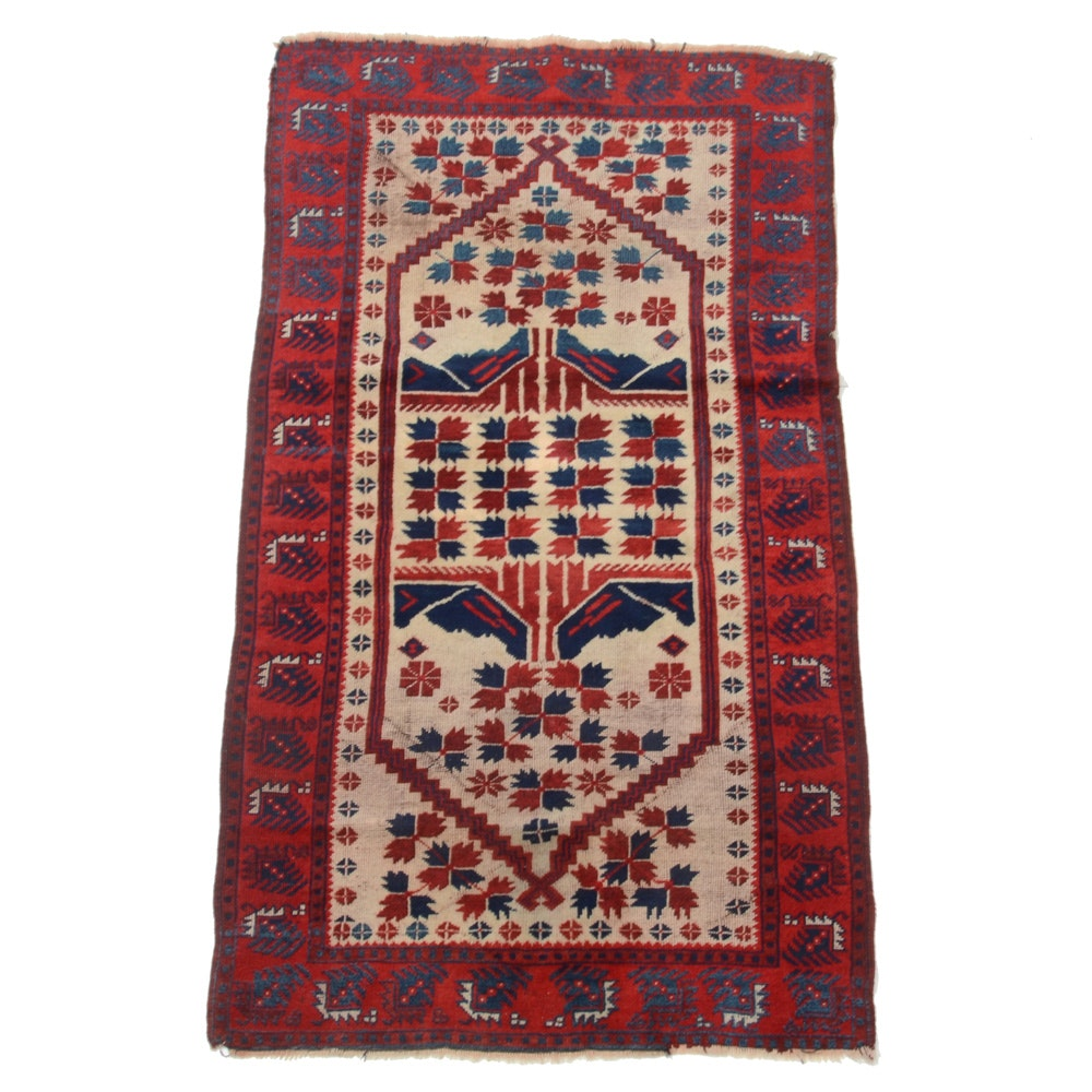 Hand-Knotted Wool Arab Baluch Area Rug