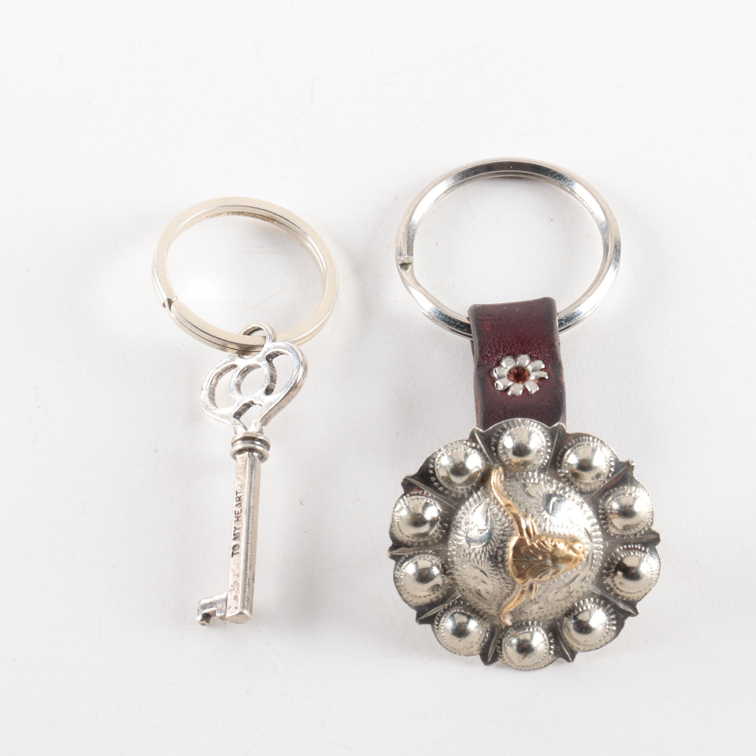 Metal and Sterling Silver Key Rings