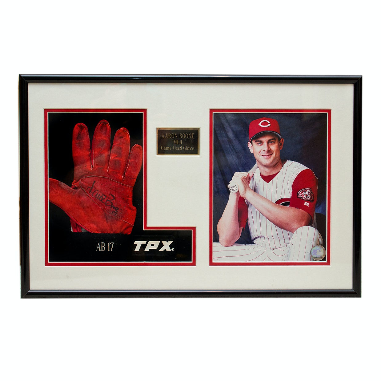 Aaron Boone Framed Autographed Batting Glove
