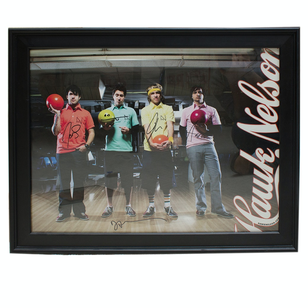 Christian Rock Band Hawk Nelson and Kutless Autographed Poster and CD Cover