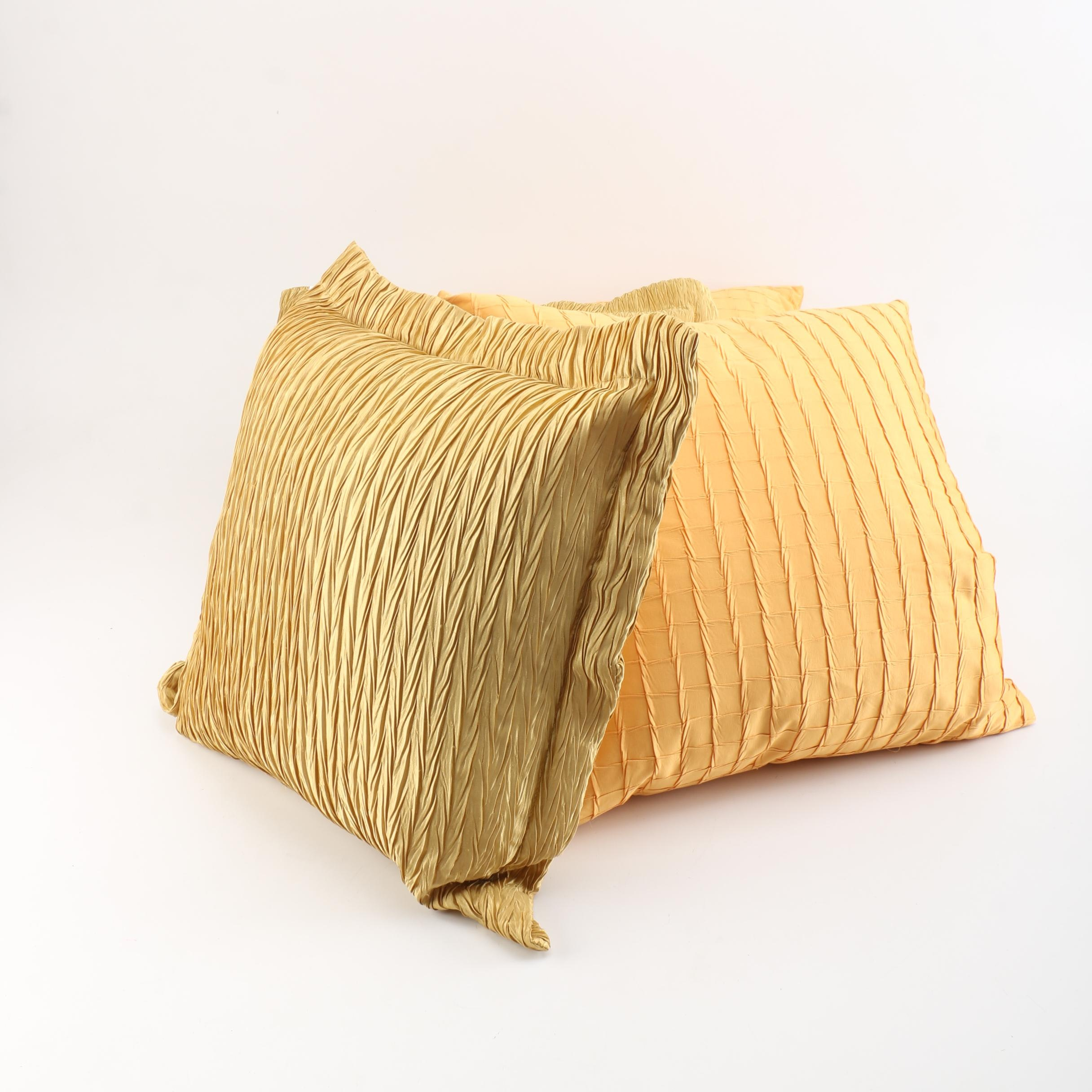 Newport Textured Yellow Accent Pillows