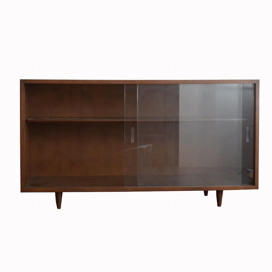 Danish Modern Style Display Cabinet Ebth