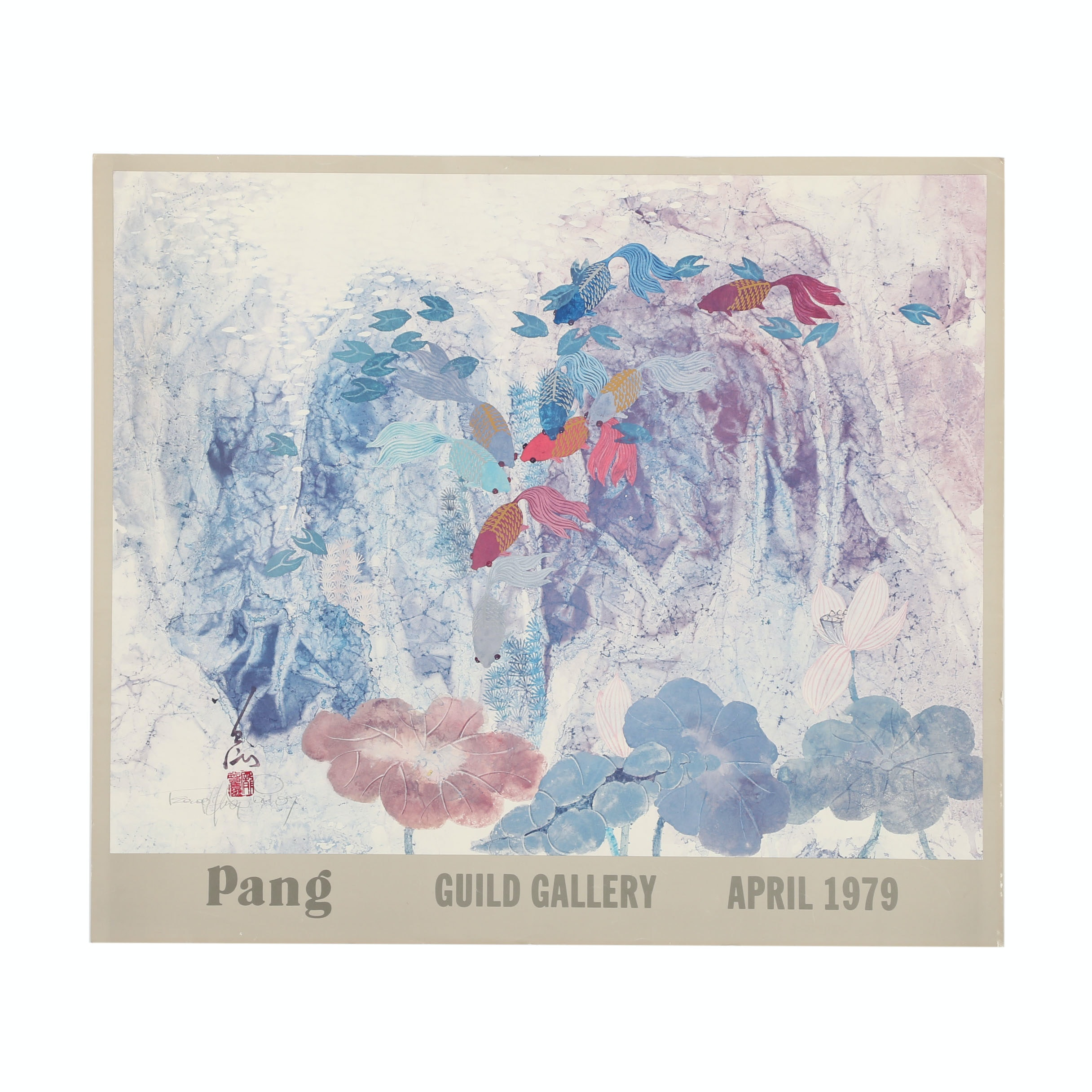 "Signed Offset Lithograph on Paper ""Pang Guild Gallery April 1979"""