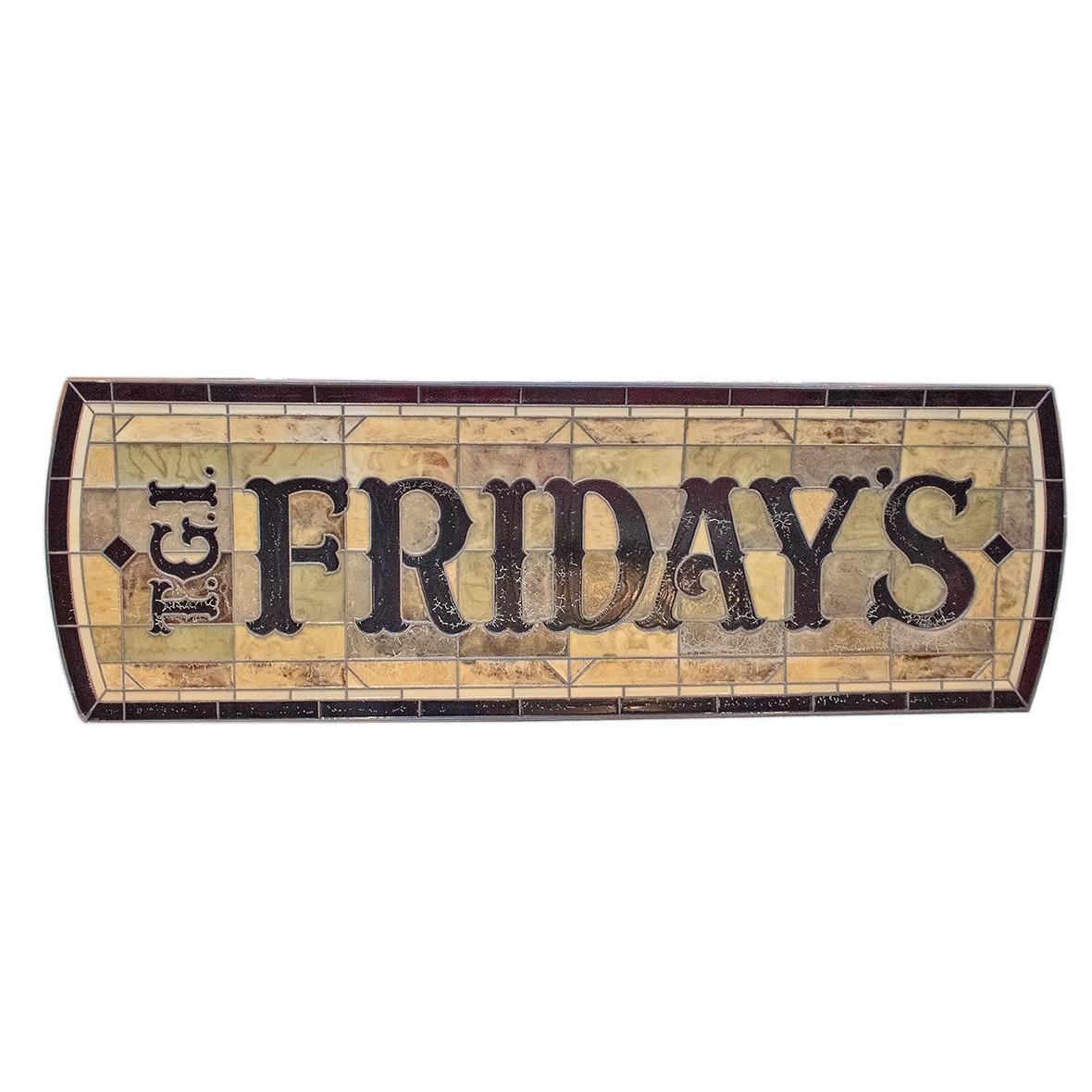 TGI Friday's Stained Fiberglass Restaurant Sign