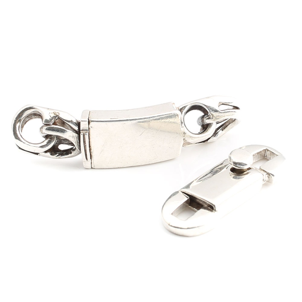 Two Sterling Silver Clasps