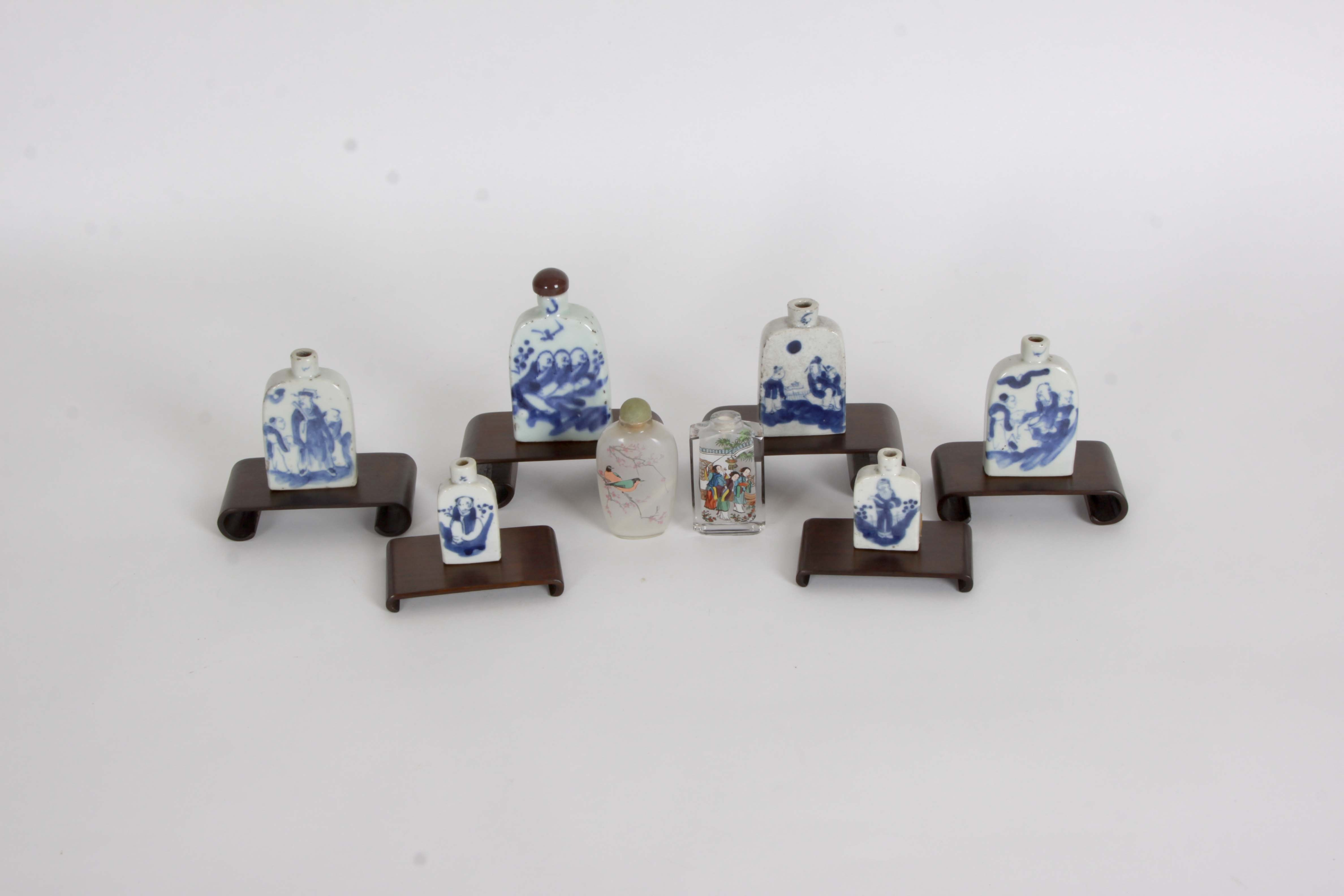 Chinese Blue and White Snuff Bottles