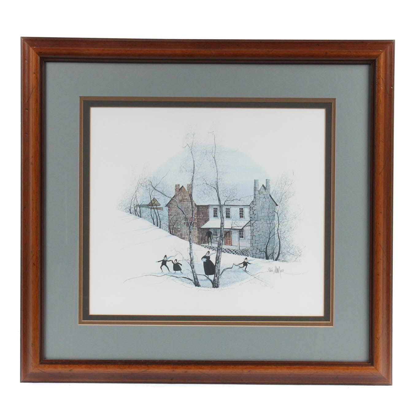 "P. Buckley Moss Limited Edition Offset Lithograph ""The Daniel Harrison House"""