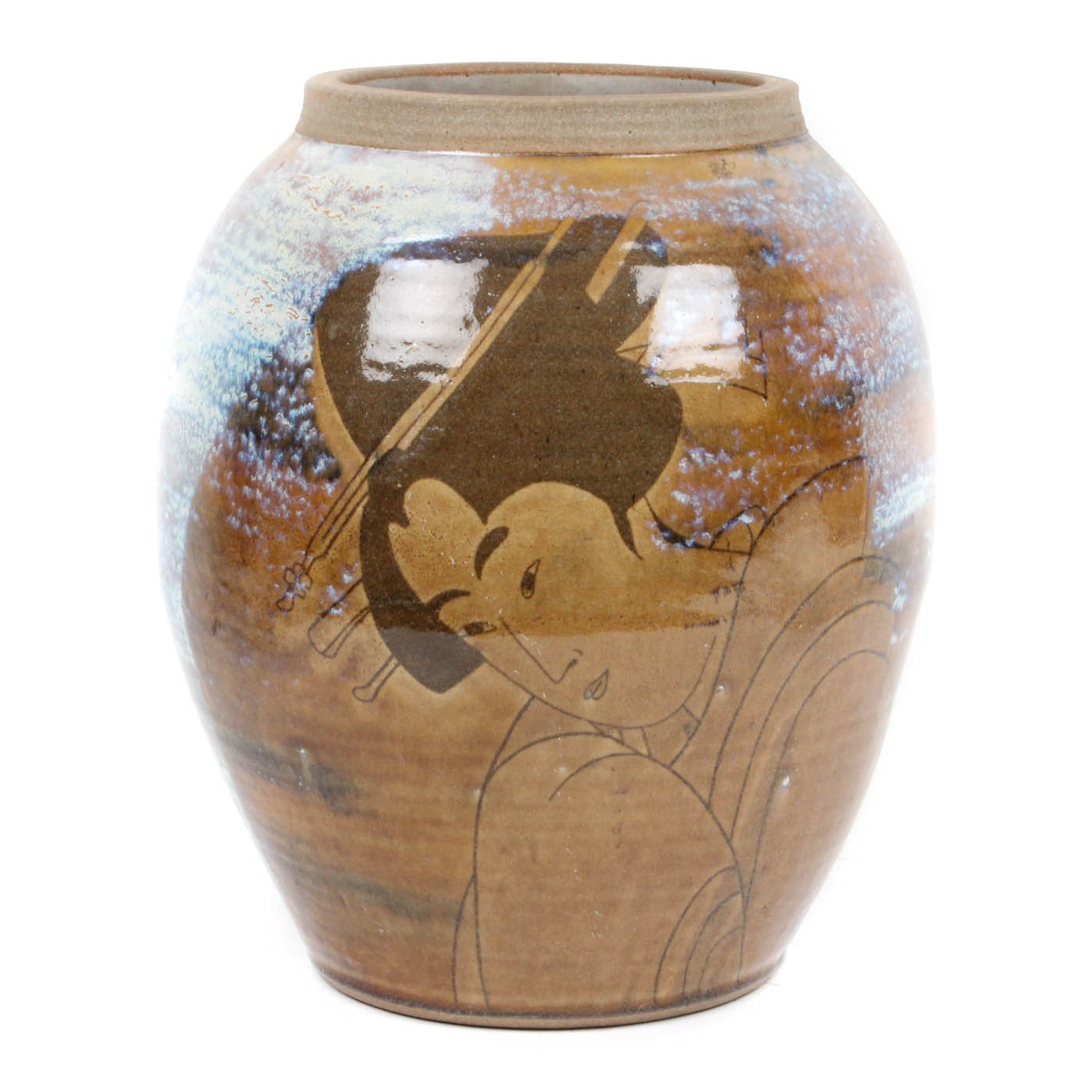 D. Russell Signed Geisha Vase