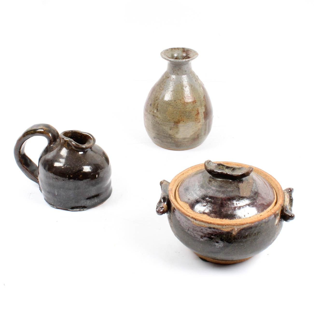 Signed Stoneware Pottery