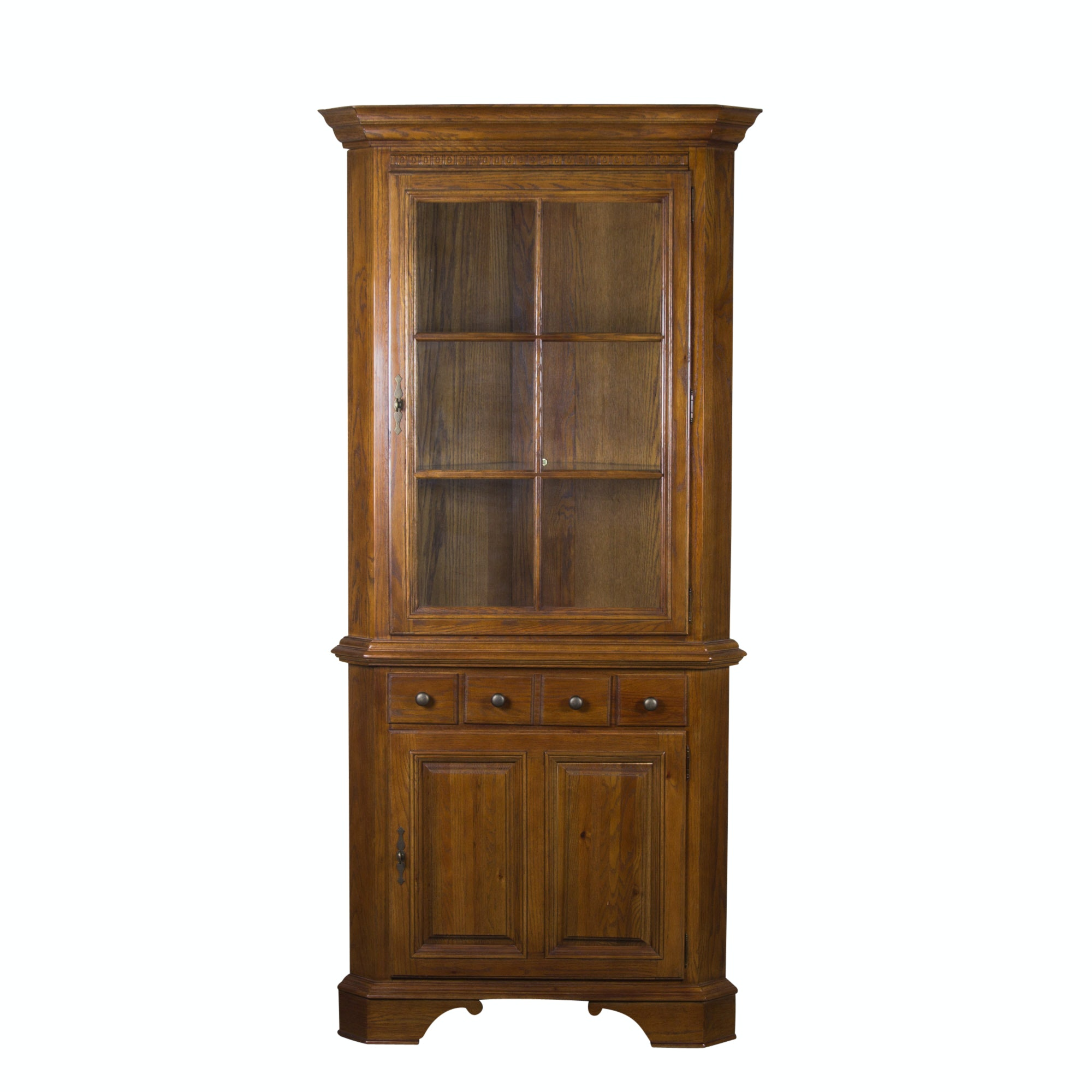 Oak Corner Cabinet by Keller Furniture