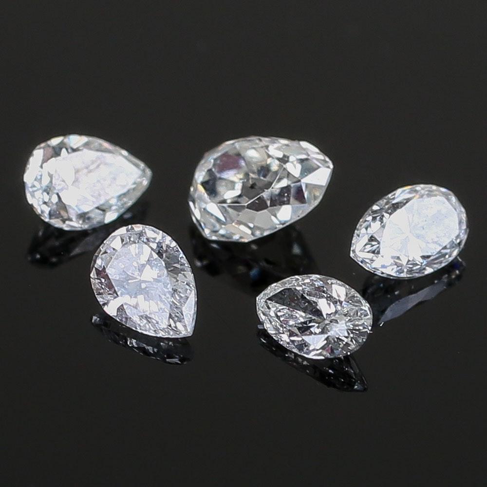 0.60 CTW Loose Pear Diamonds
