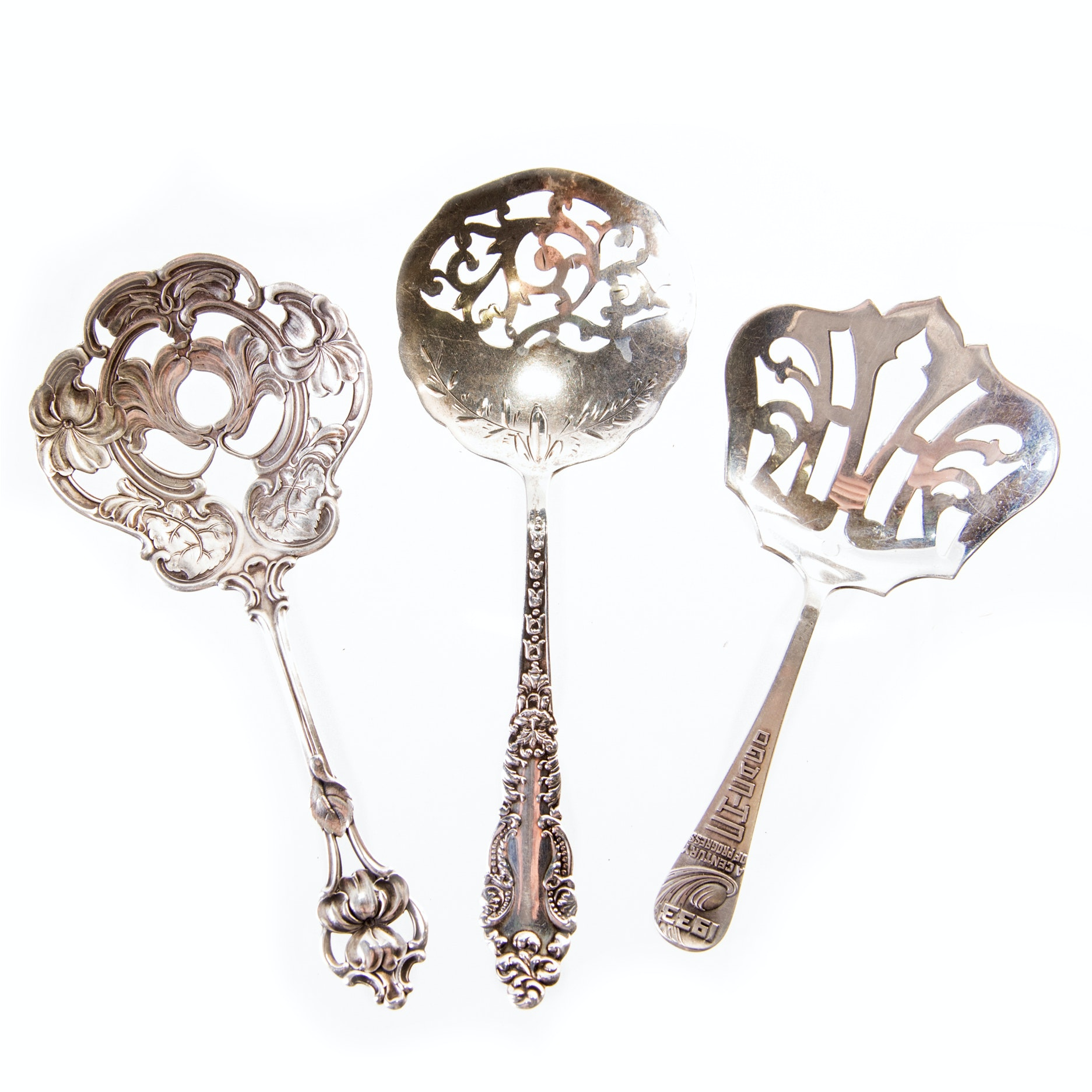 R. Wallace & Sons and Other Sterling Silver Bon Bon Spoons