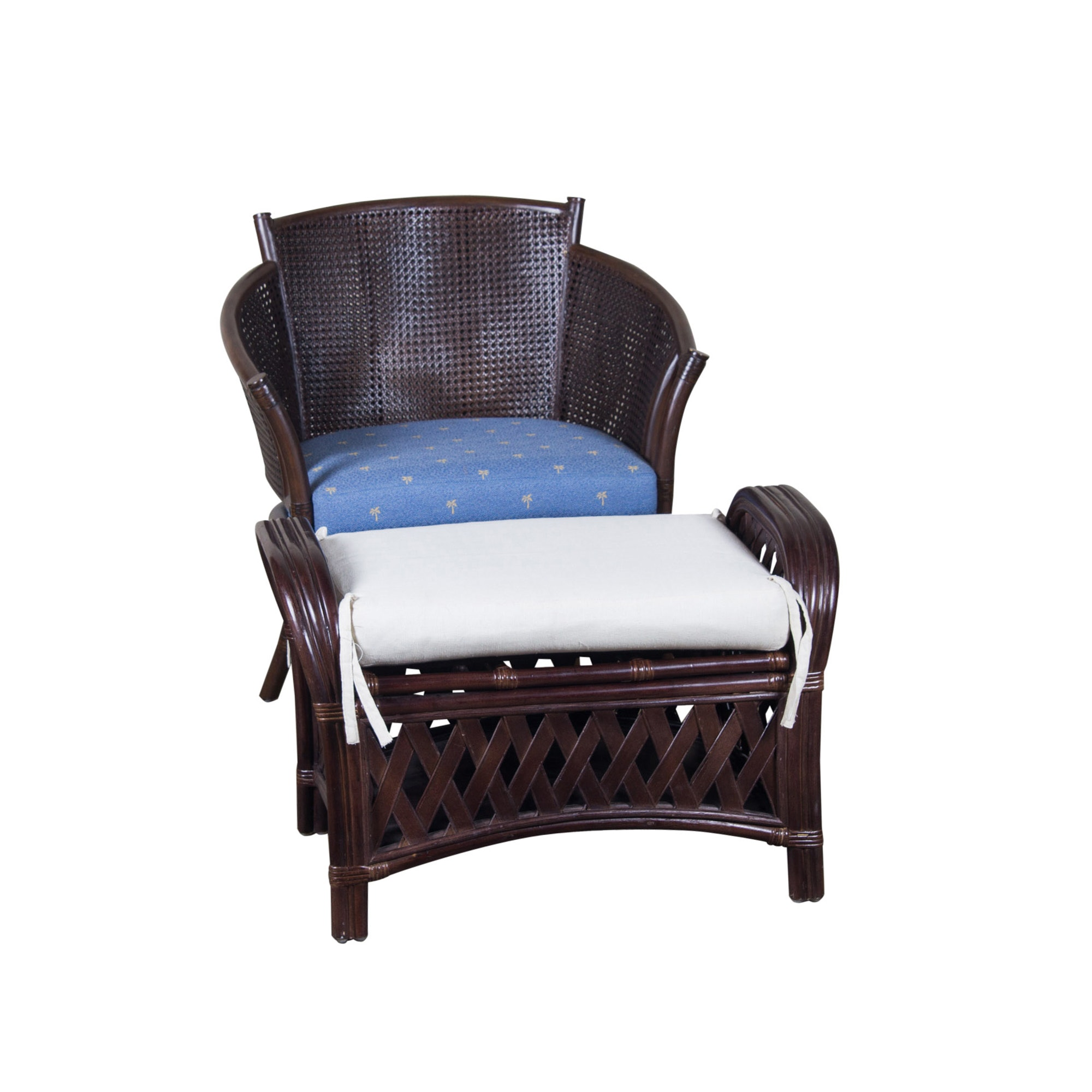 Over-Sized Ficks Reed Chair with Ottoman