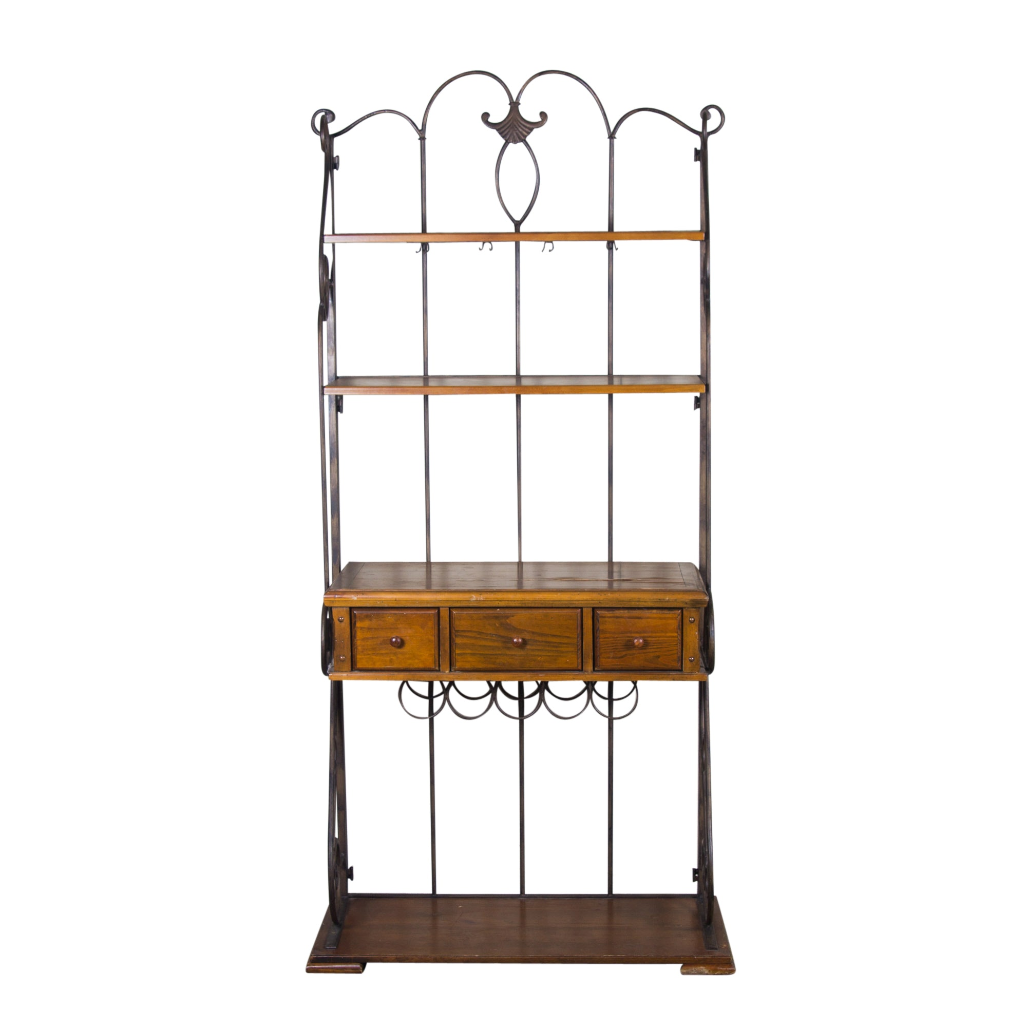 Metal and Wooden Baker's Rack