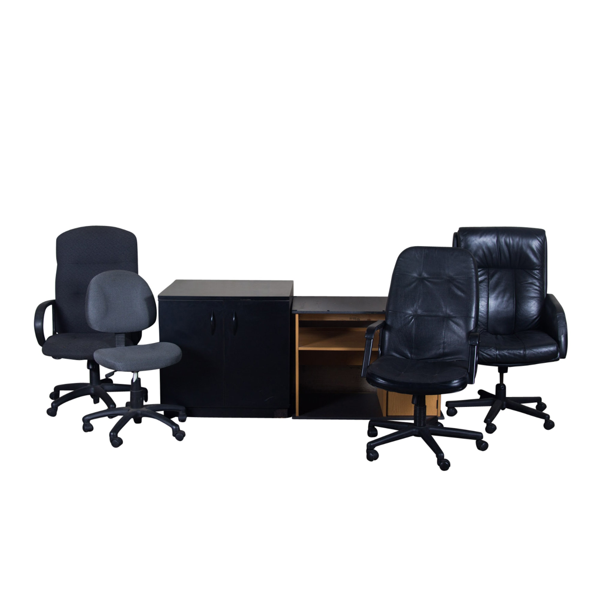 Assortment of Office Furniture and Chairs