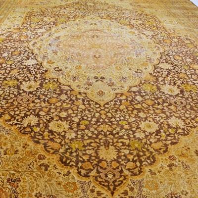Jerry  H. Aziz Hand-Knotted Hadji-Lillili Tabriz Design Wool Area Rug