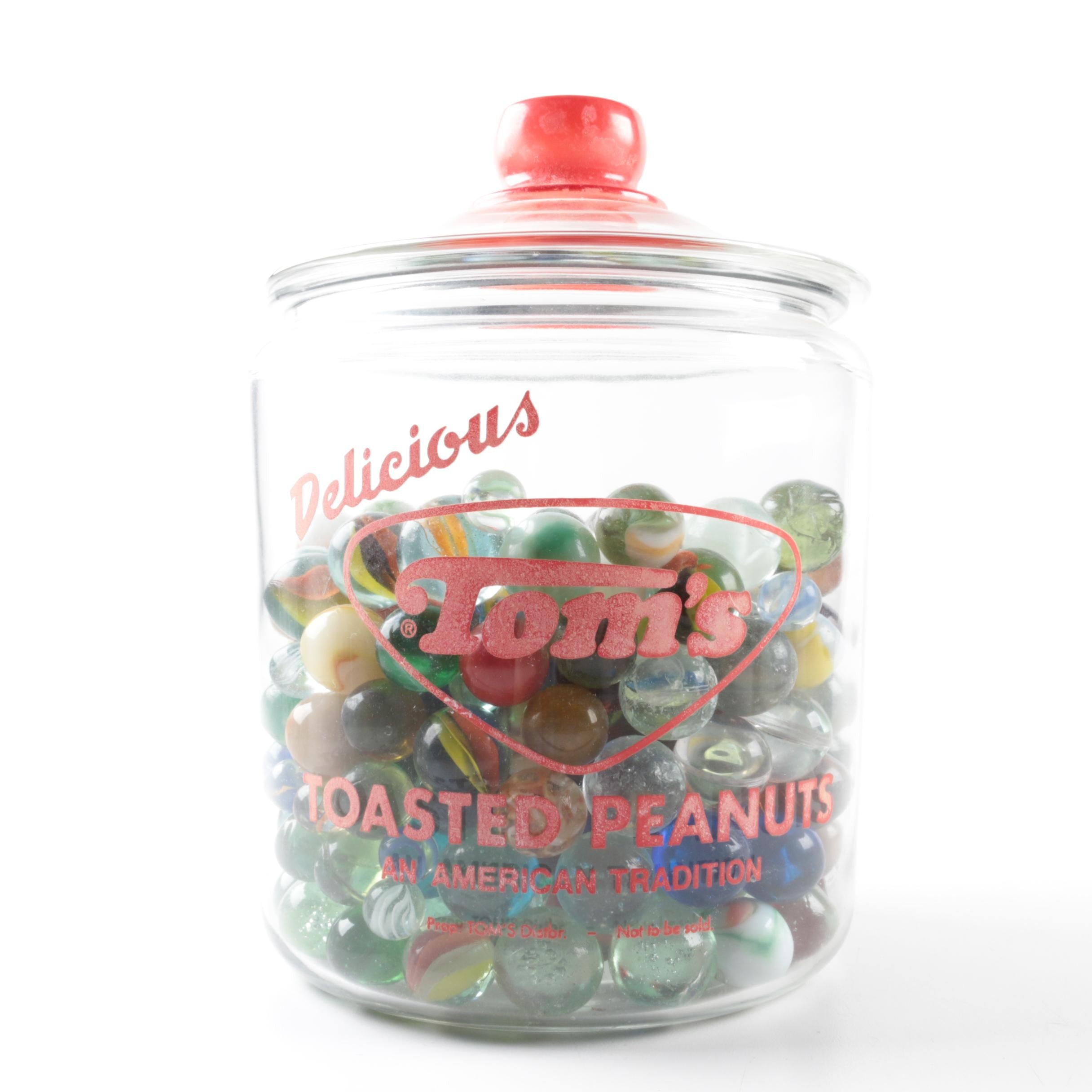 Glass Marbles in Apothecary Jar