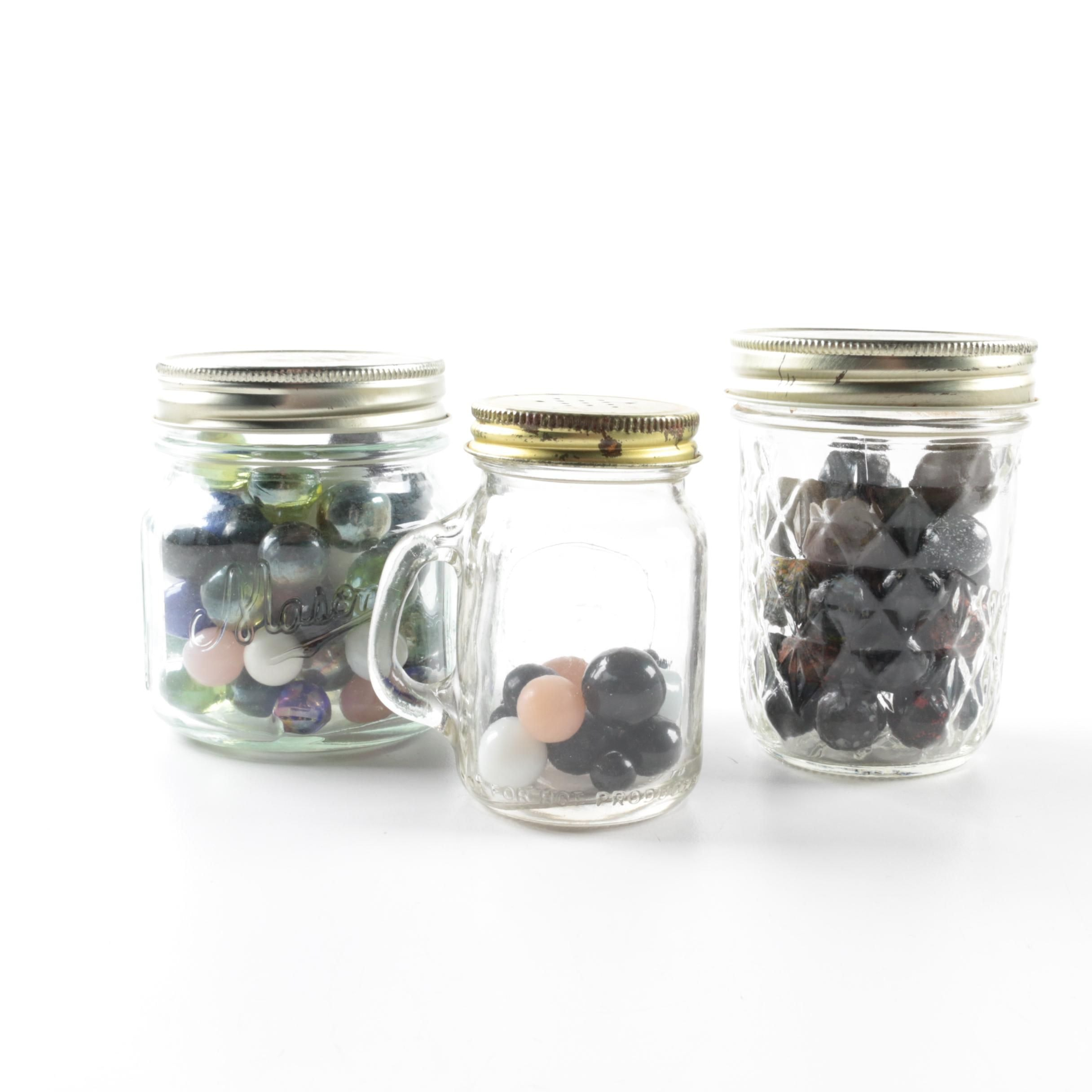 Jars of Glass Marbles