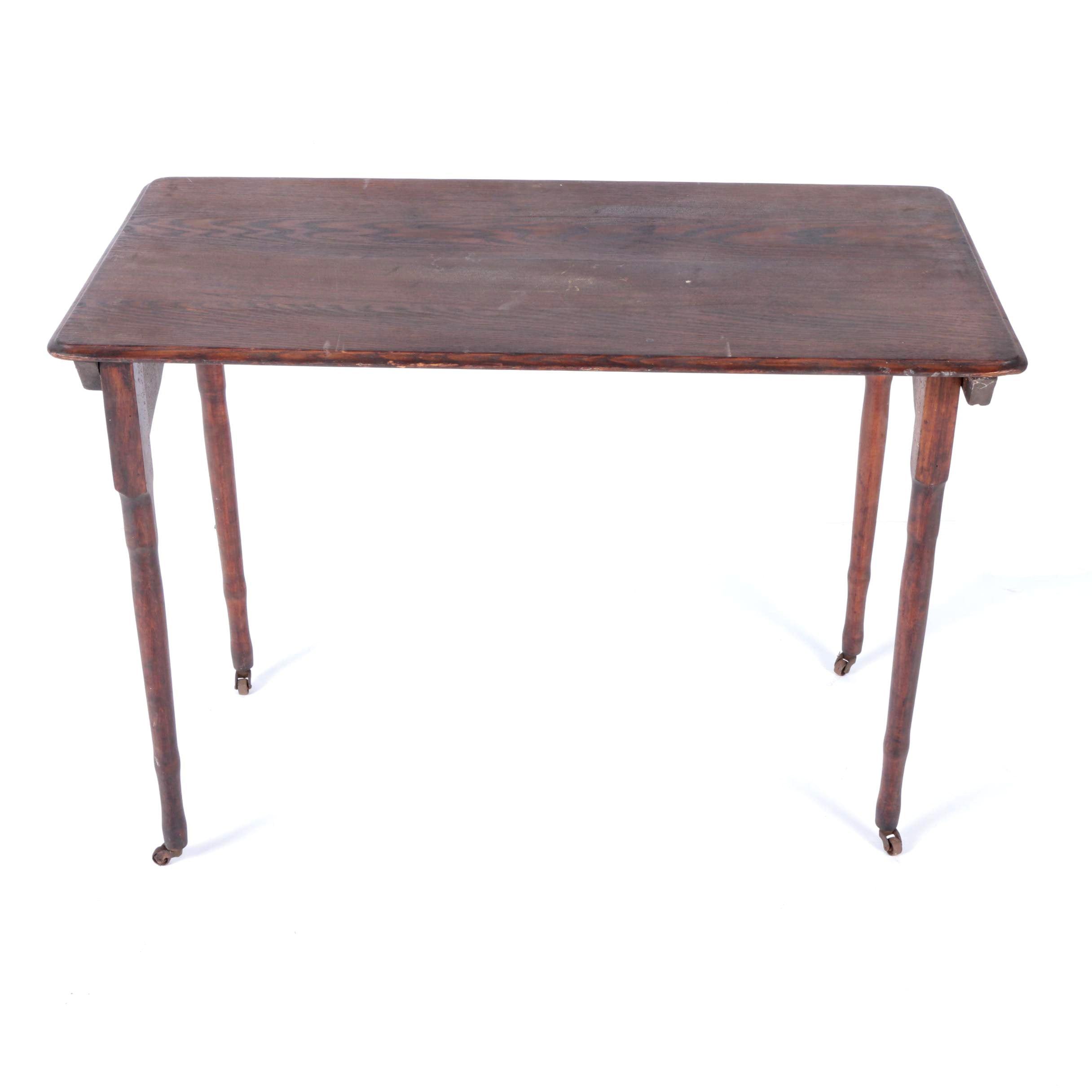 Antique Oak Folding Table