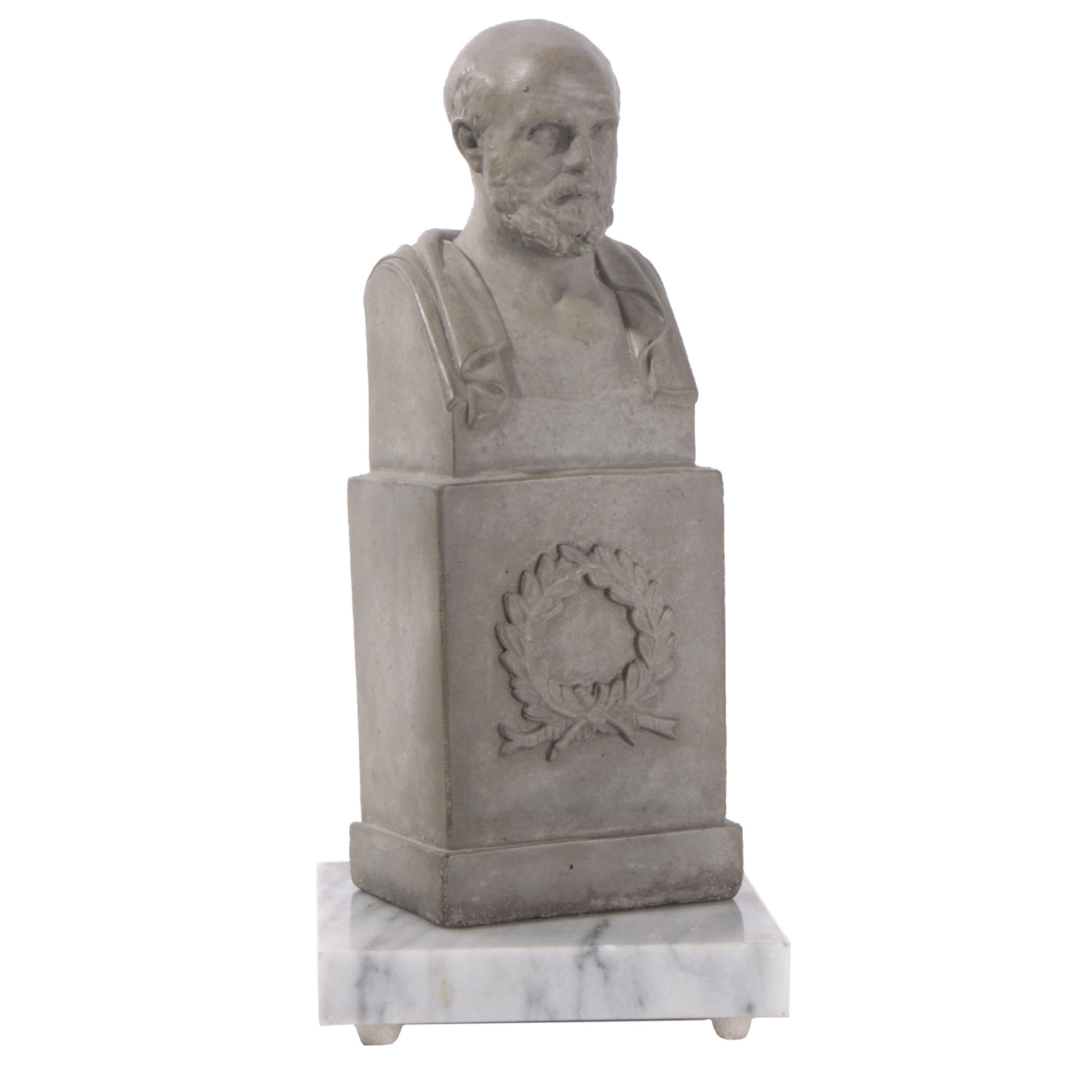 House Parts Resin Bust of Socrates