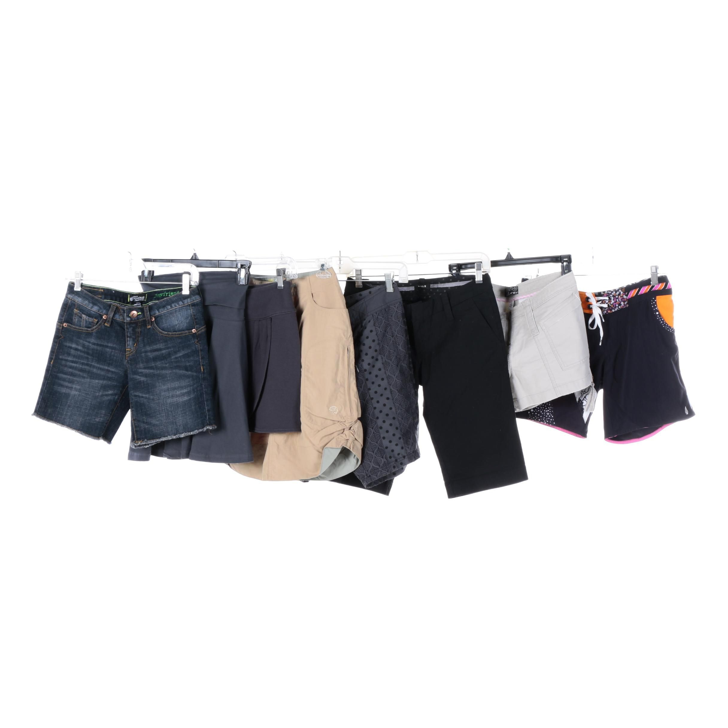 Women's Shorts and Skirts Including Hurley and Volcom