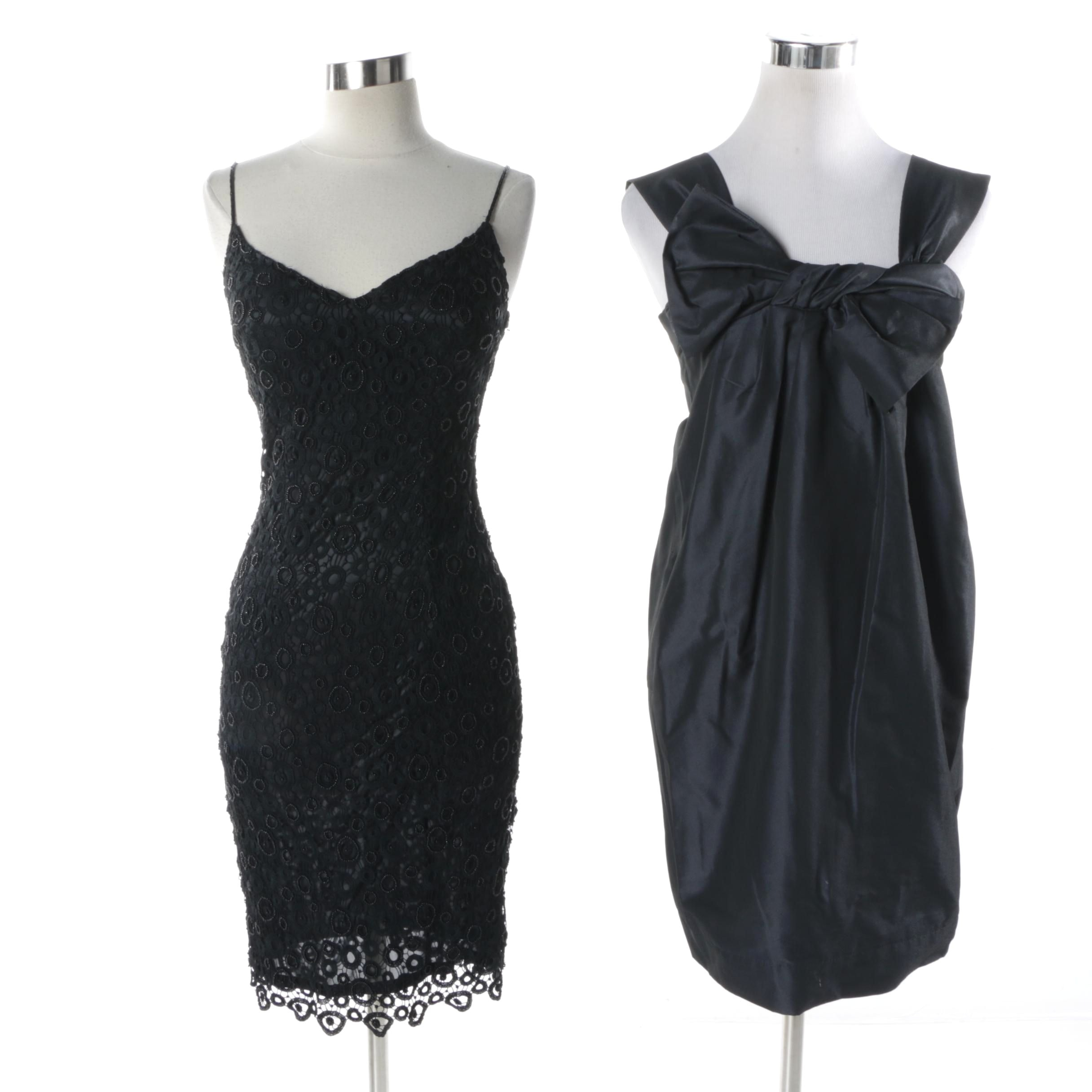 Lillie Rubin and French Connection Black Sleeveless Dresses