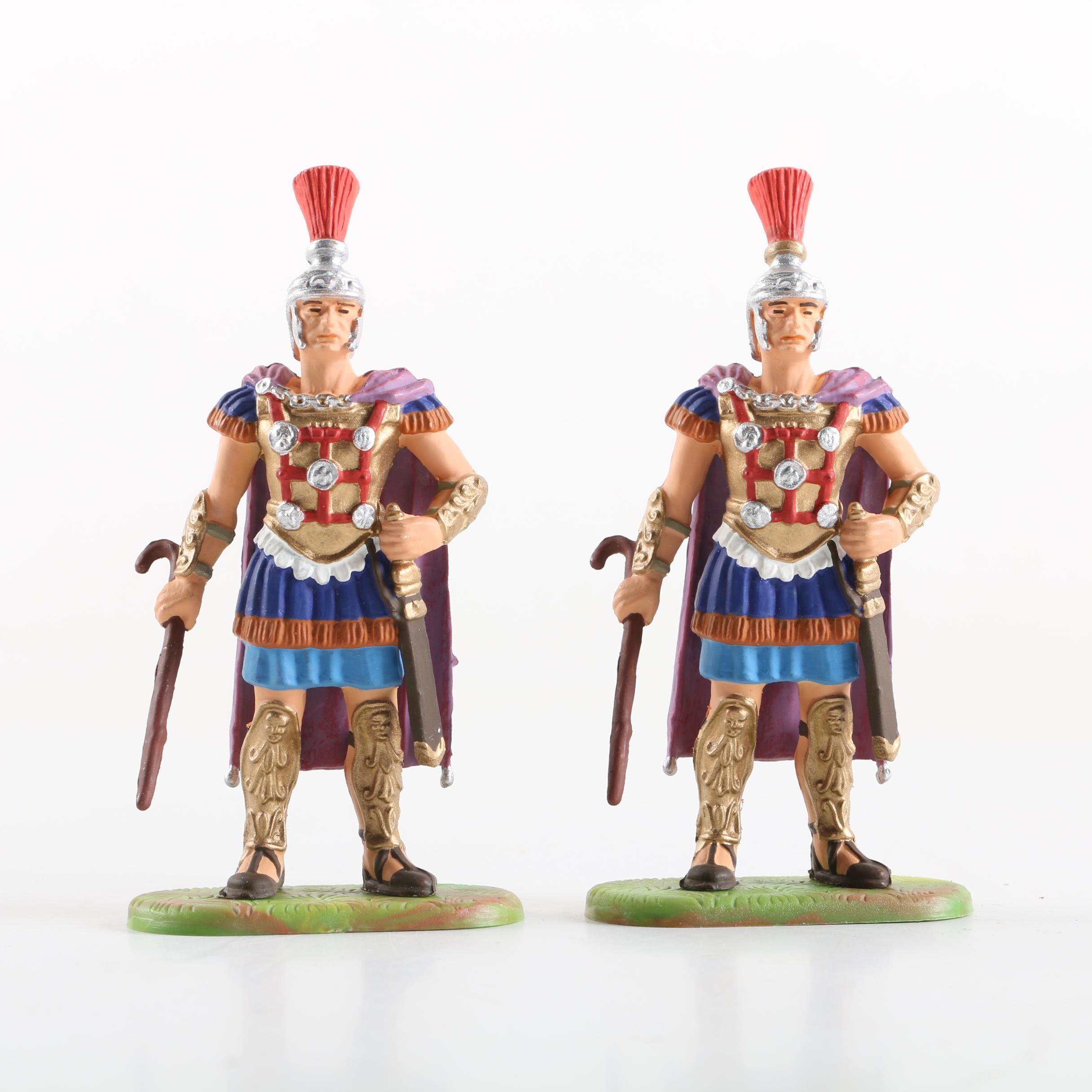 Hausser Elastolin German Plastic Roman Centurion Toy Soldiers