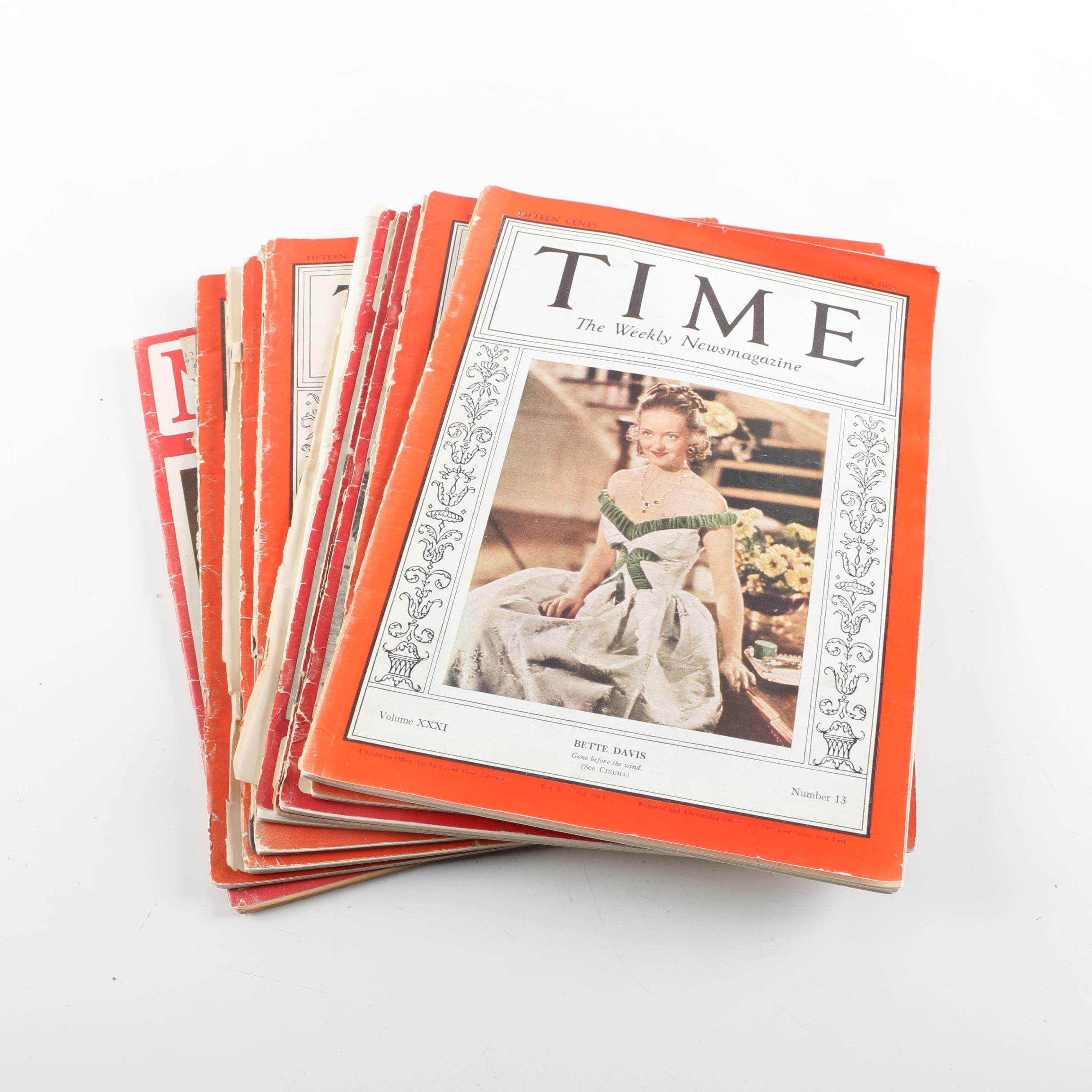 """1930s and 1940s """"Time"""" and """"Newsweek"""" Magazines"""